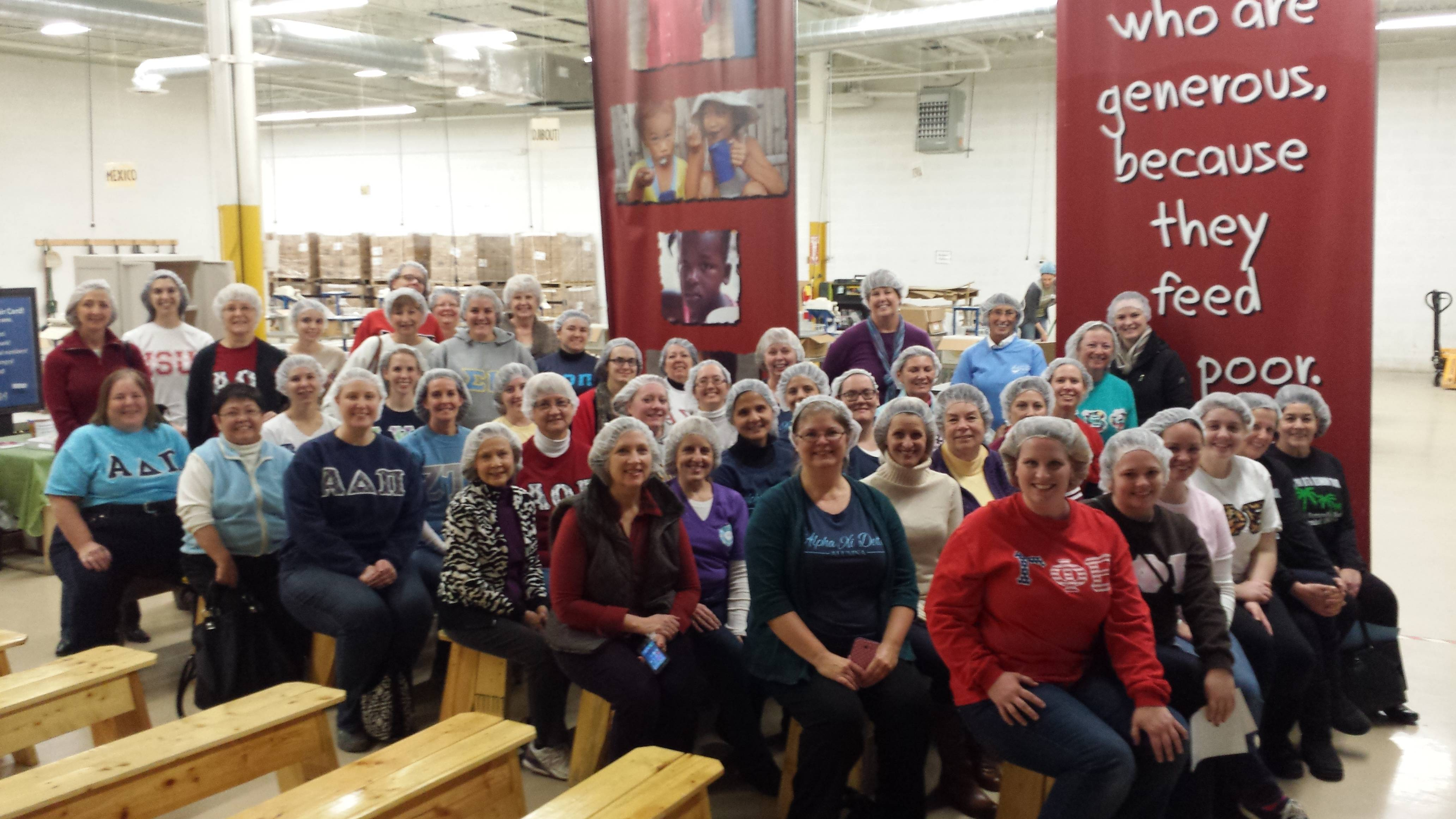 CNWSAP women pose for a picture at Feed My Starving Children in Schaumburg Deb Keyes