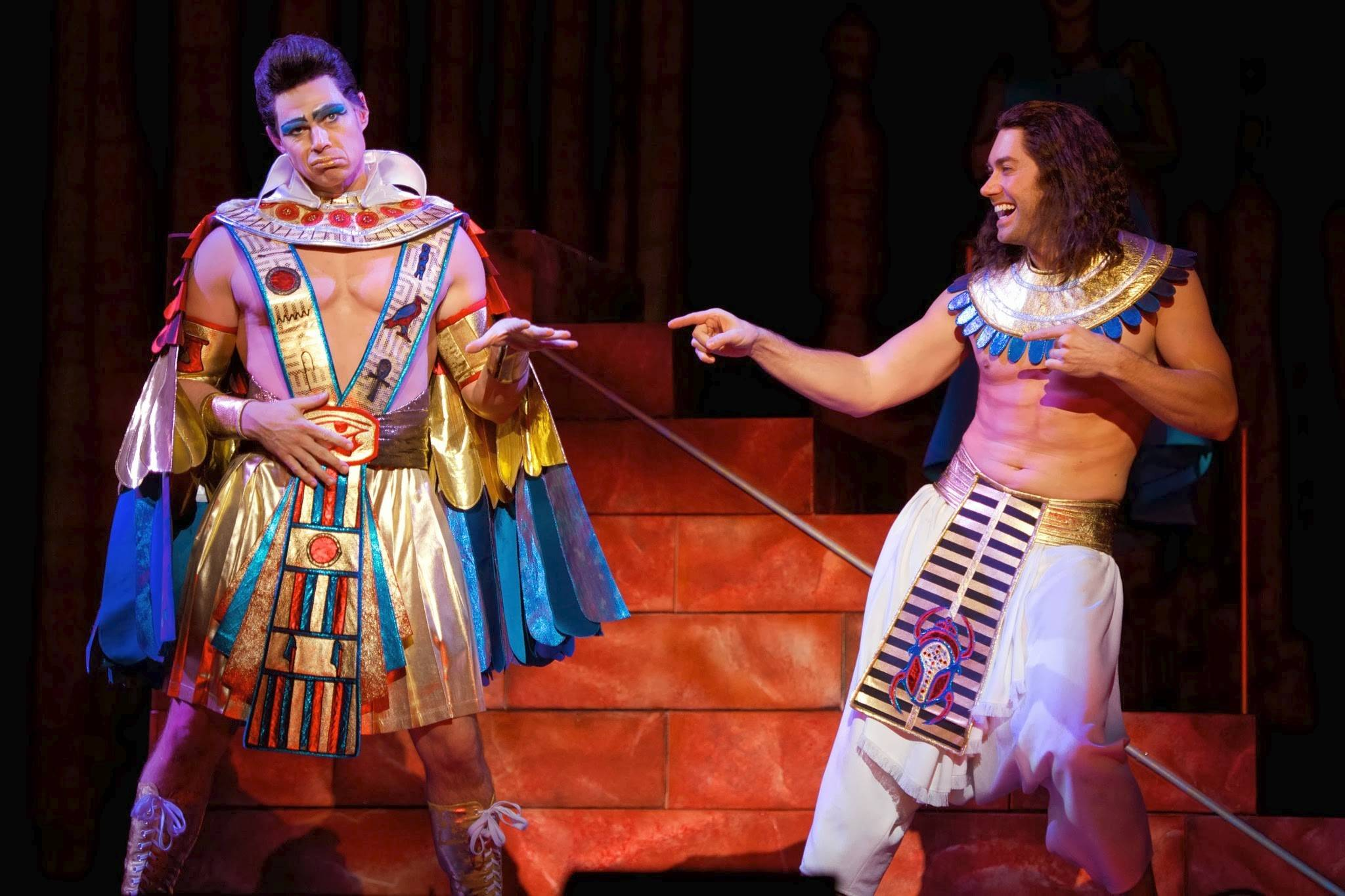 "Joseph (Ace Young), right, wins over Pharaoh (Ryan Williams) in ""Joseph and the Amazing Technicolor Dreamcoat,"" coming to Chicago's Cadillac Palace Theatre."