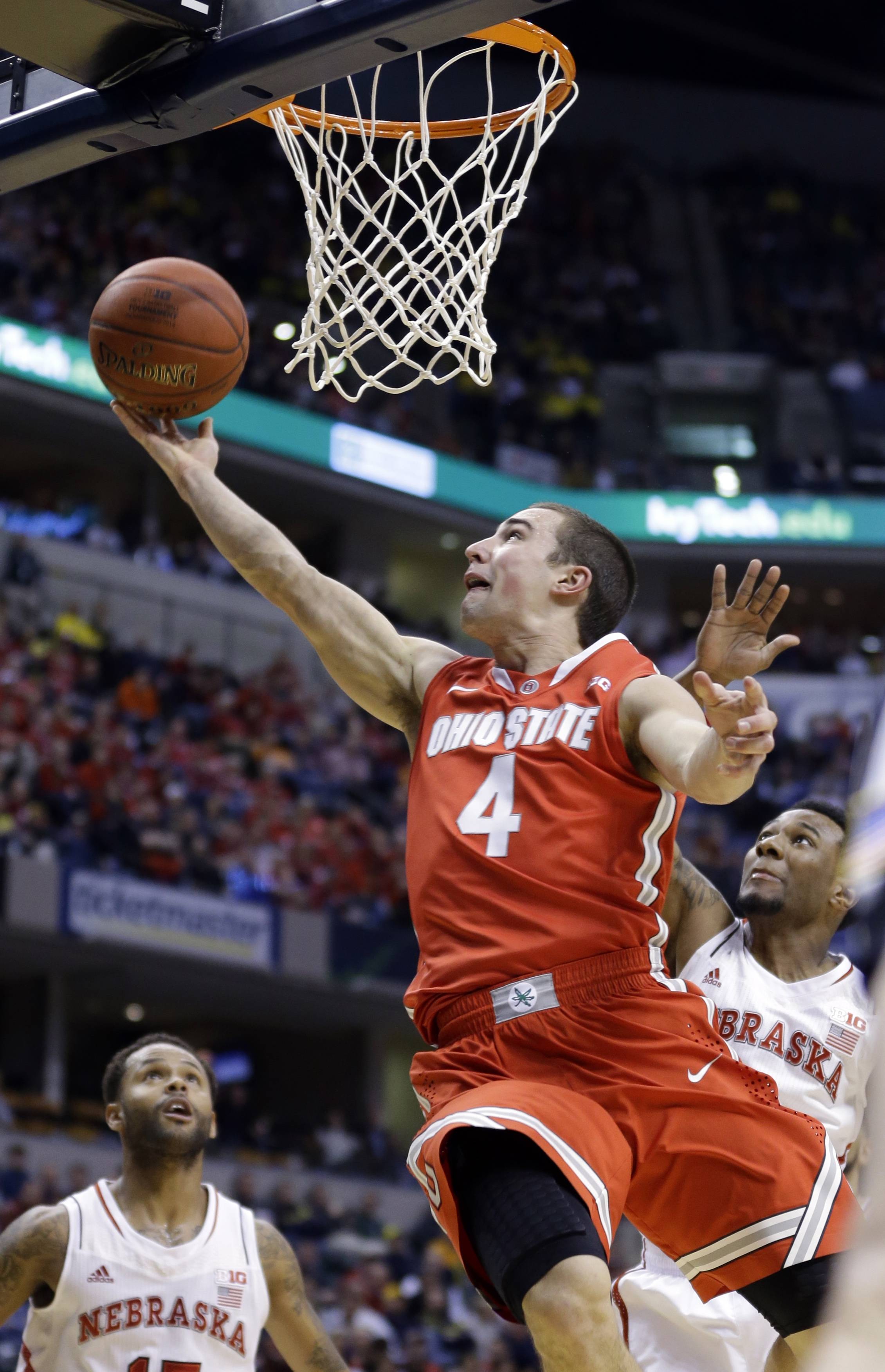 Ohio State guard Aaron Craft goes up for a shot against Nebraska on Friday in the quarterfinals of the Big Ten Conference tournament in Indianapolis.