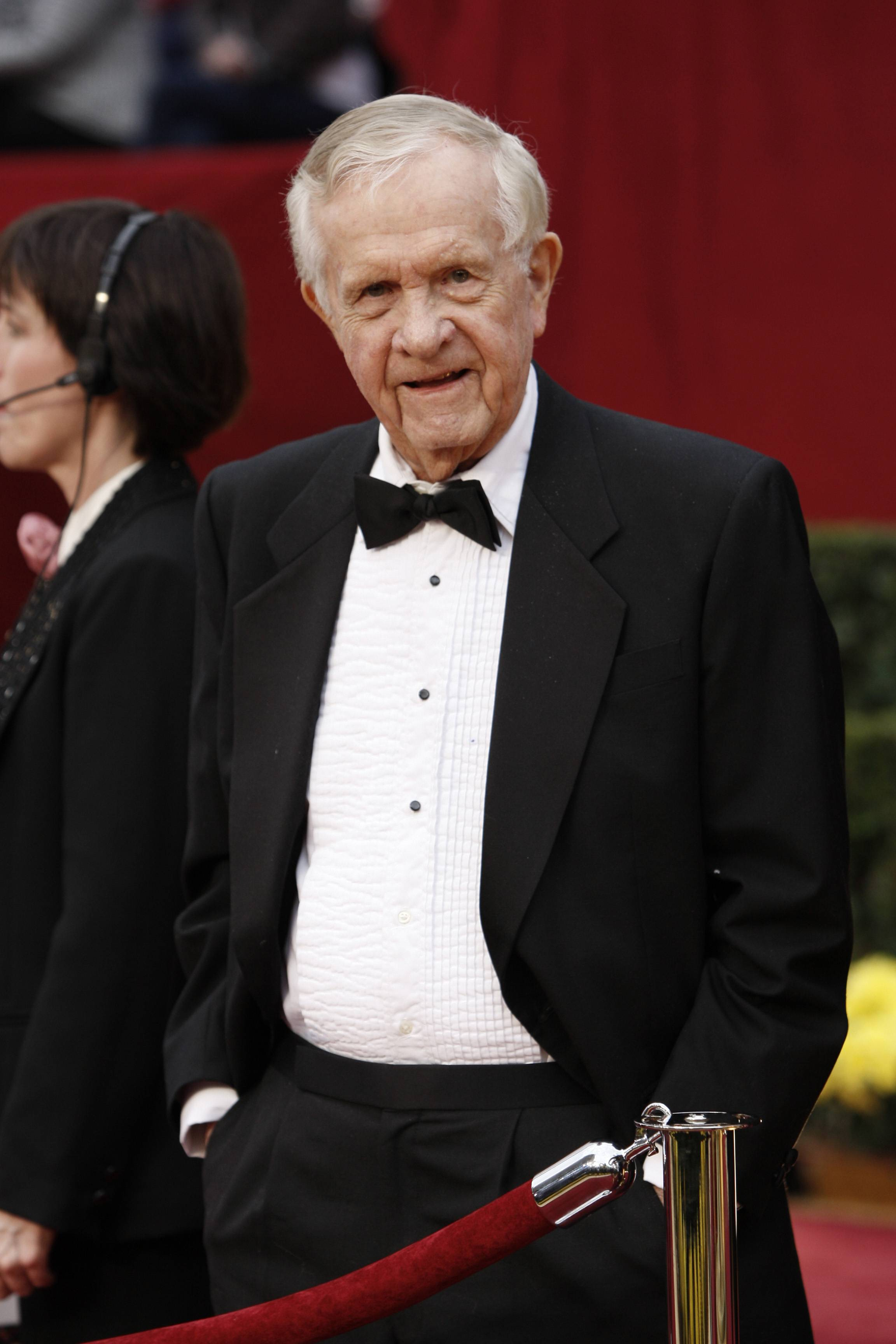 Associated Press reporter Bob Thomas attends the 81st Academy Awards in the Hollywood section of Los Angeles. Thomas died of age-related illnesses Friday, March 14, 2014 at his Encino, Calif., home, his daughter Janet Thomas said. He was 92.