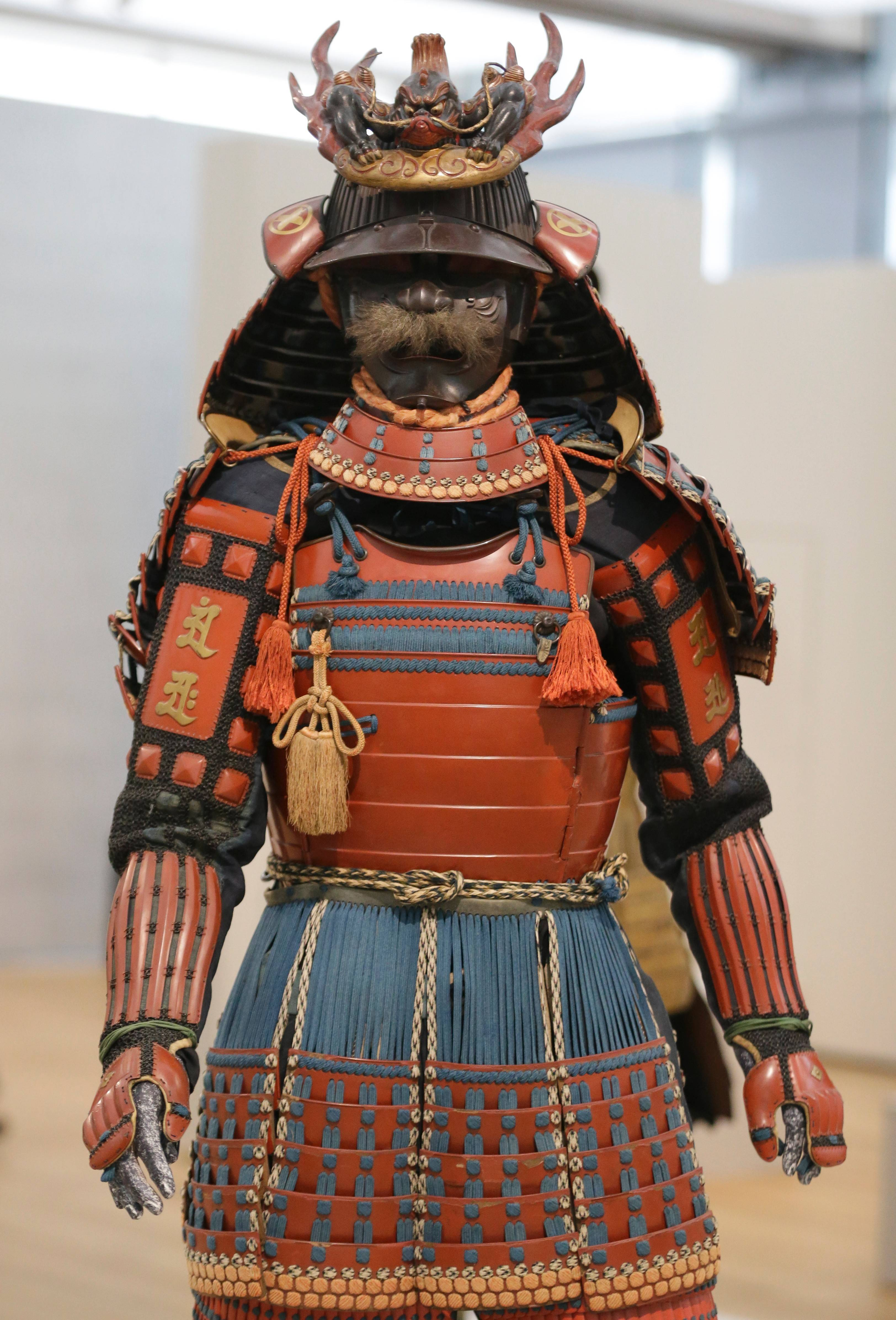 "A Samurai suit of armor is on display at the Kimbell Art Museum in Fort Worth, Texas. The museum is hosting the exhibit ""Samurai: Armor From the Ann and Gabriel Barbier-Mueller Collection,"" which features more than 140 works."