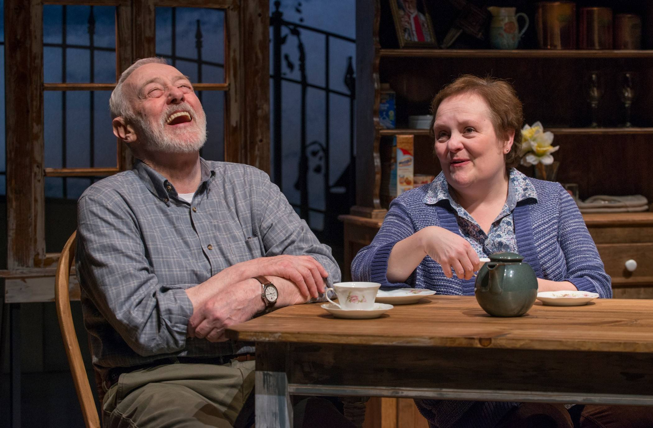 "John Mahoney and Penny Slusher co-star in Northlight Theatre's world premiere of Christian O'Reilly's ""Chapatti"" in Skokie. The play is a co-production with the Galway Arts Festival in Ireland."