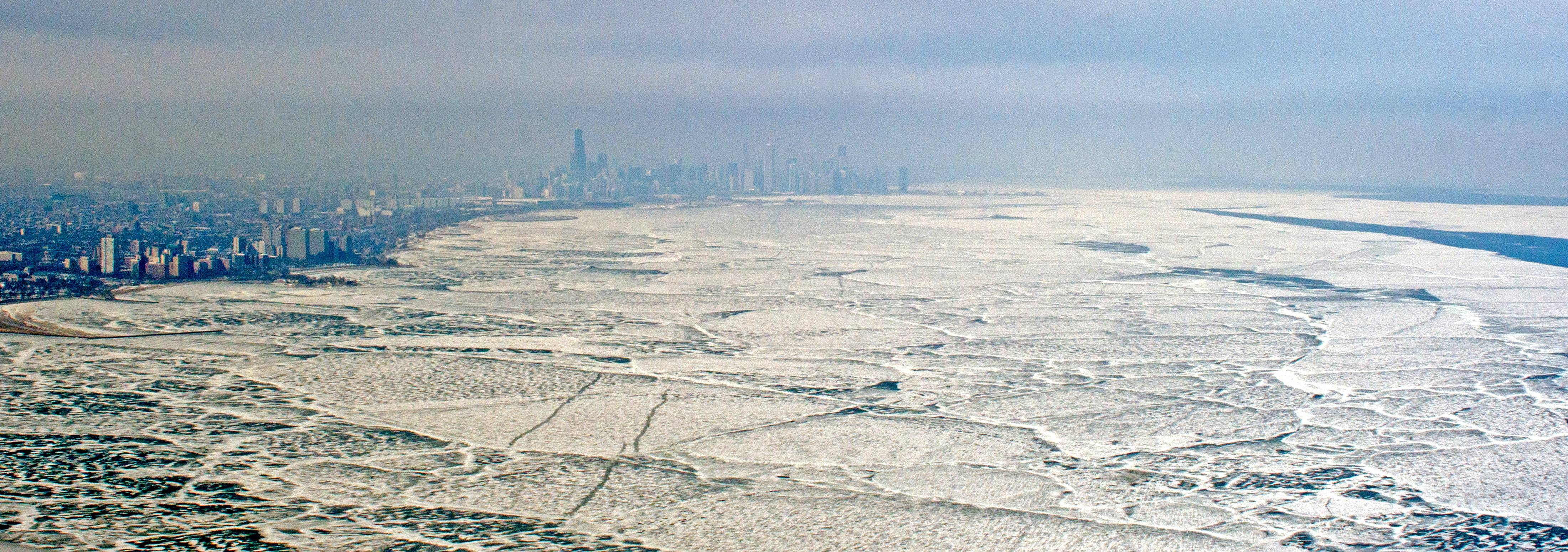 I wanted to snap some photos of frozen Lake Michigan before it all melted.