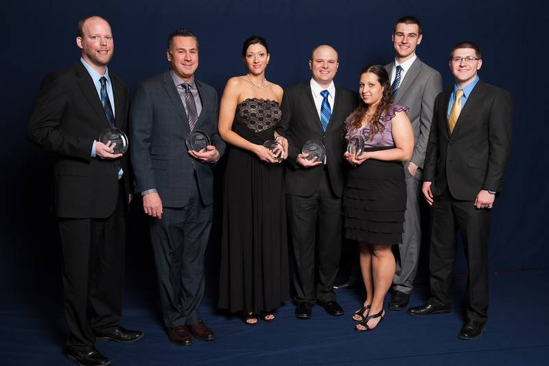 The Culver's of Grayslake team receives their Commitment to Excellence award at the restaurant chain's annual reunion in February.
