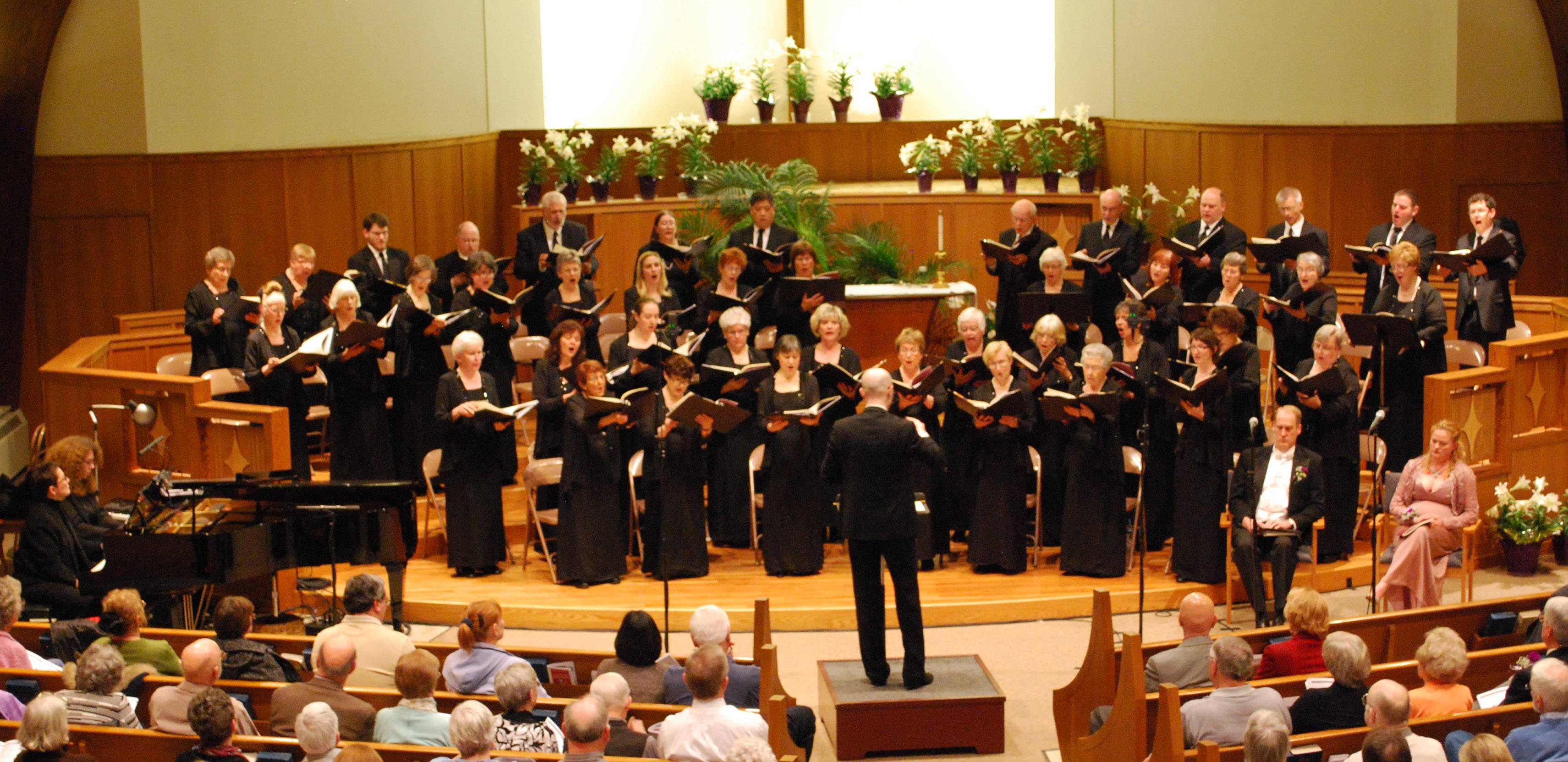 The Northwest Choral Society presented a 2013 concert at Southminster Church in Arlington Heights.Tom Perles