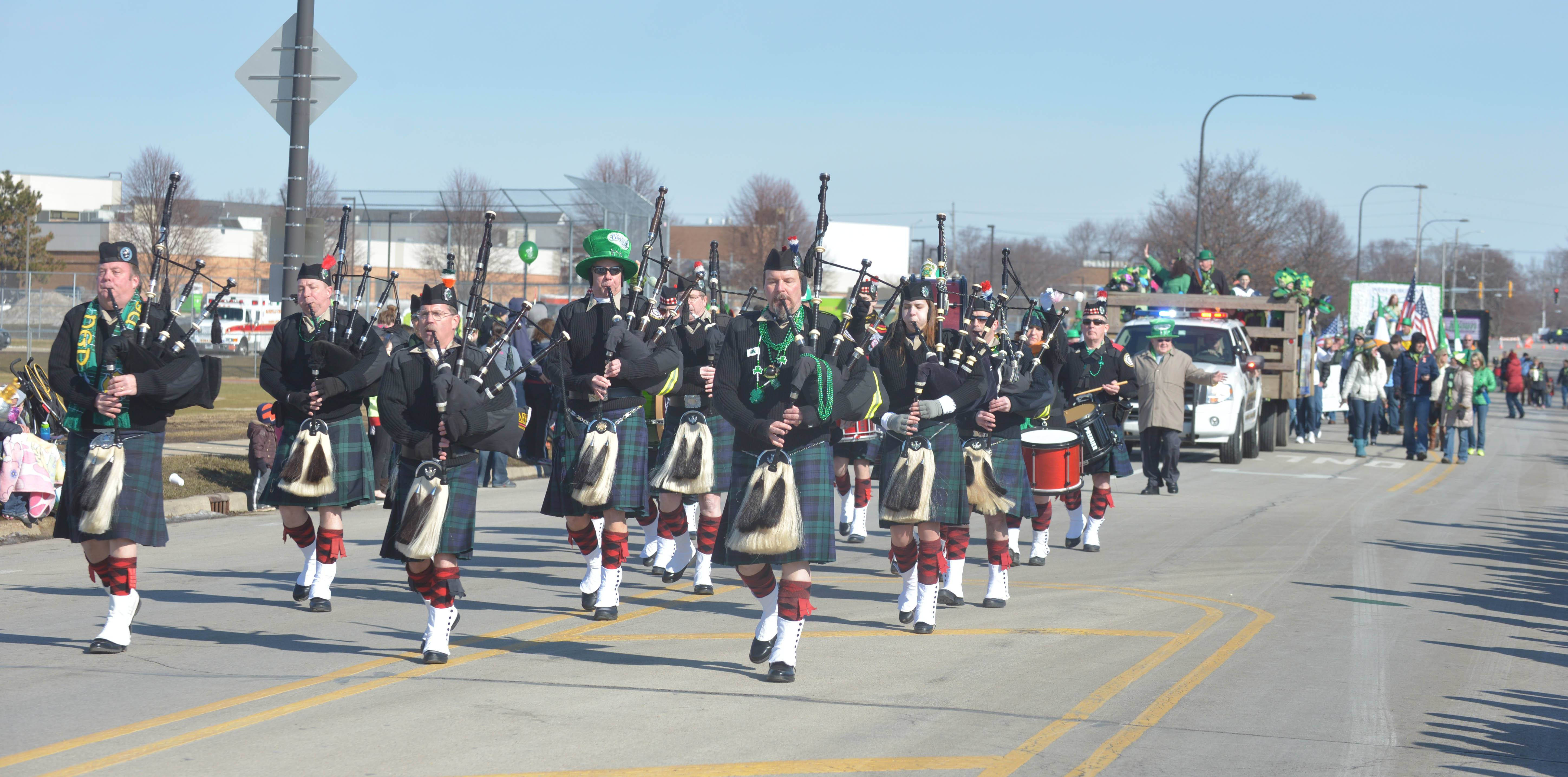 The annual West Suburban Irish St. Patrick's Day Parade took place in Naperville Saturday.