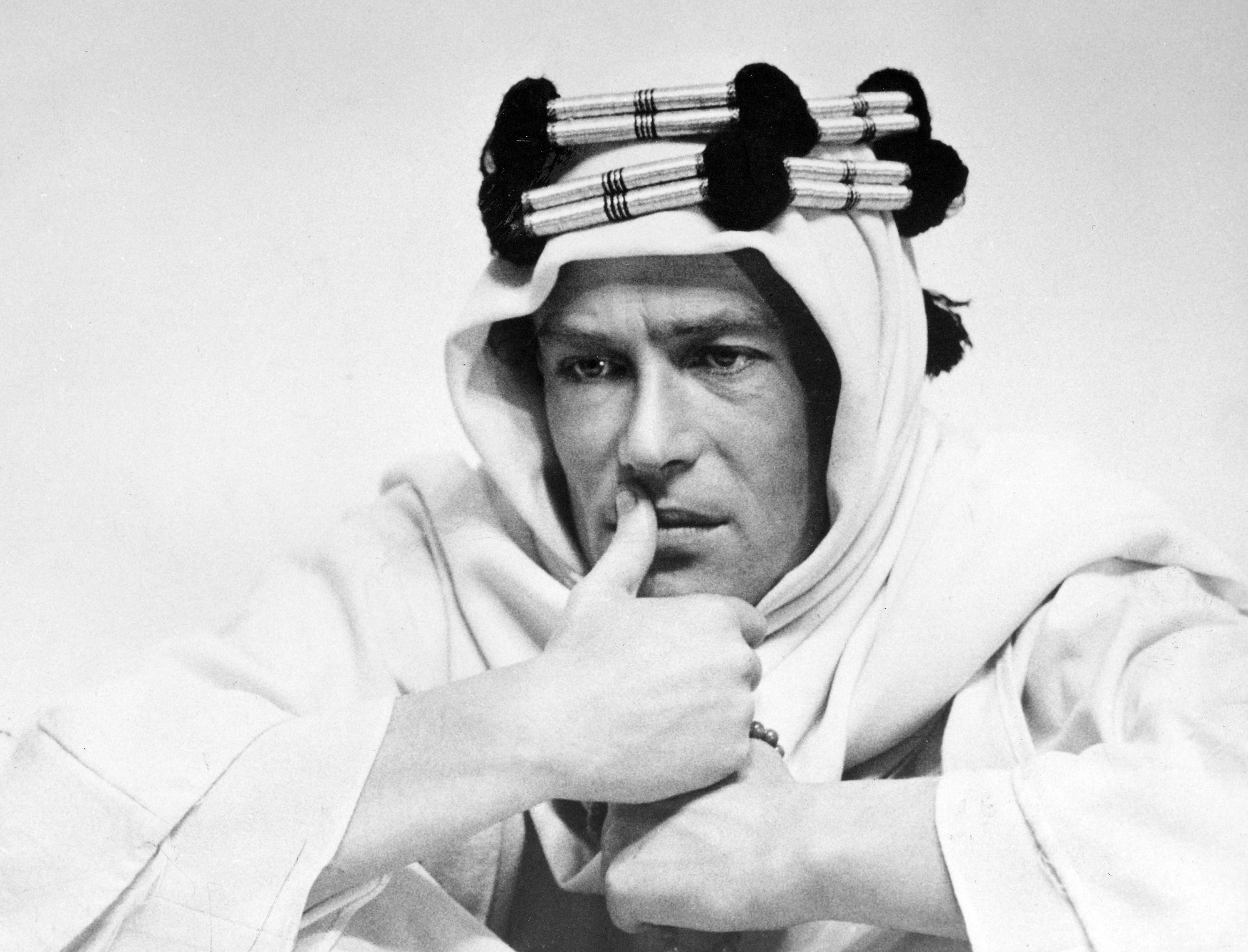 "Actor Peter O'Toole in 1961 in the title role in the film ""Lawrence of Arabia."""