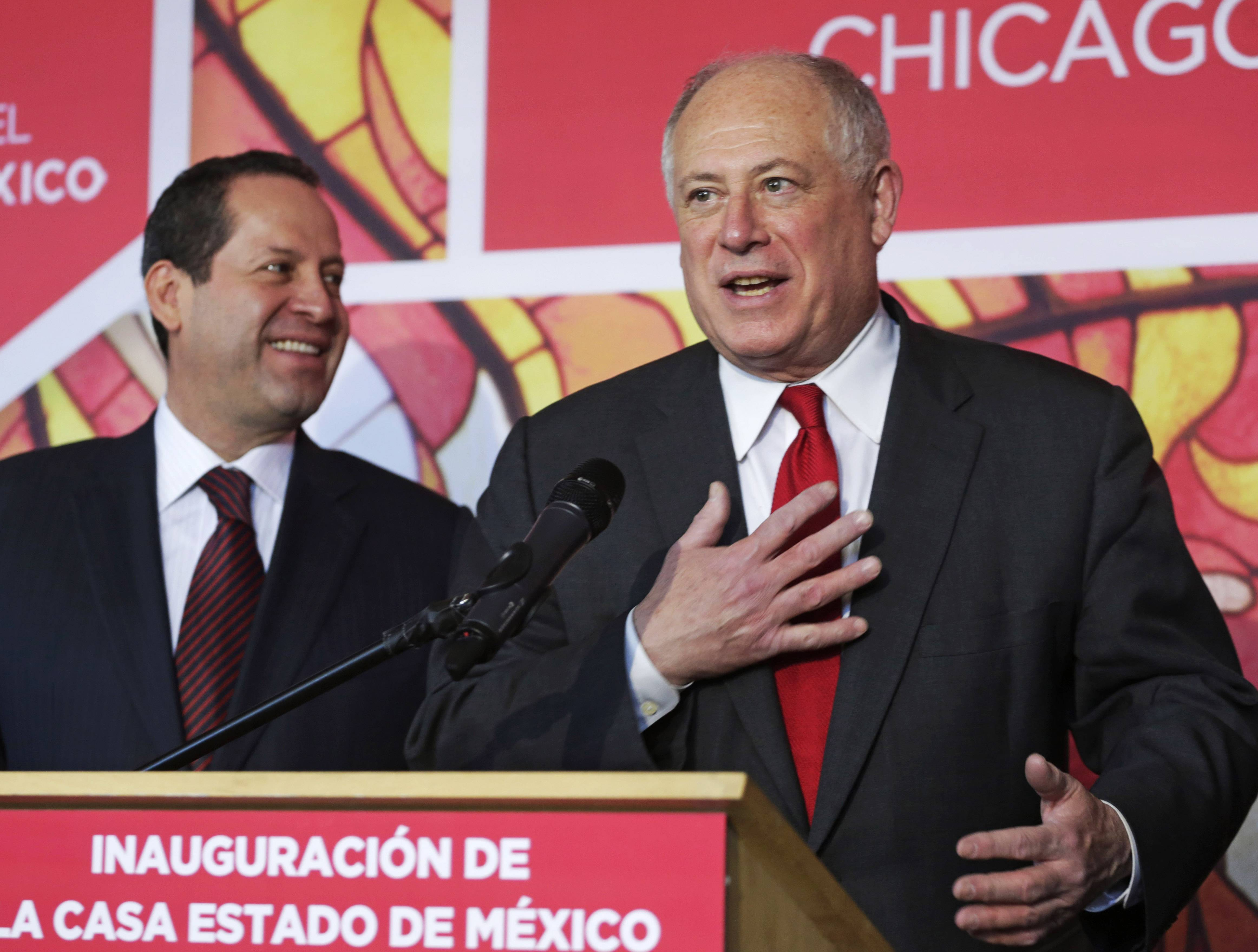 In this Jan. 23 photo, Gov. Pat Quinn delivers the State of the State address at Capitol in Springfield, Ill. With the Illinois primary election less than a week away on March 18, Quinn is the target of Republican attack ads, has a little-known outspoken primary challenger and could face a tough road to November, but there's little evidence of his re-election bid.