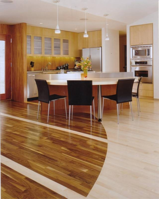 Reduce urge to clutter an open floor plan for Hardwood floor plans