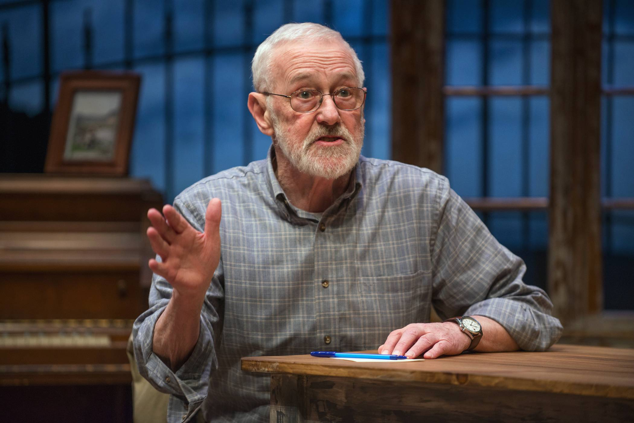 "Former ""Frasier"" star John Mahoney, 73, stars in ""Chapatti,"" by Irish playwright Christian O'Reilly. The play, at Northlight Theatre in Skokie, runs through April 13 before going to Galway, Ireland."