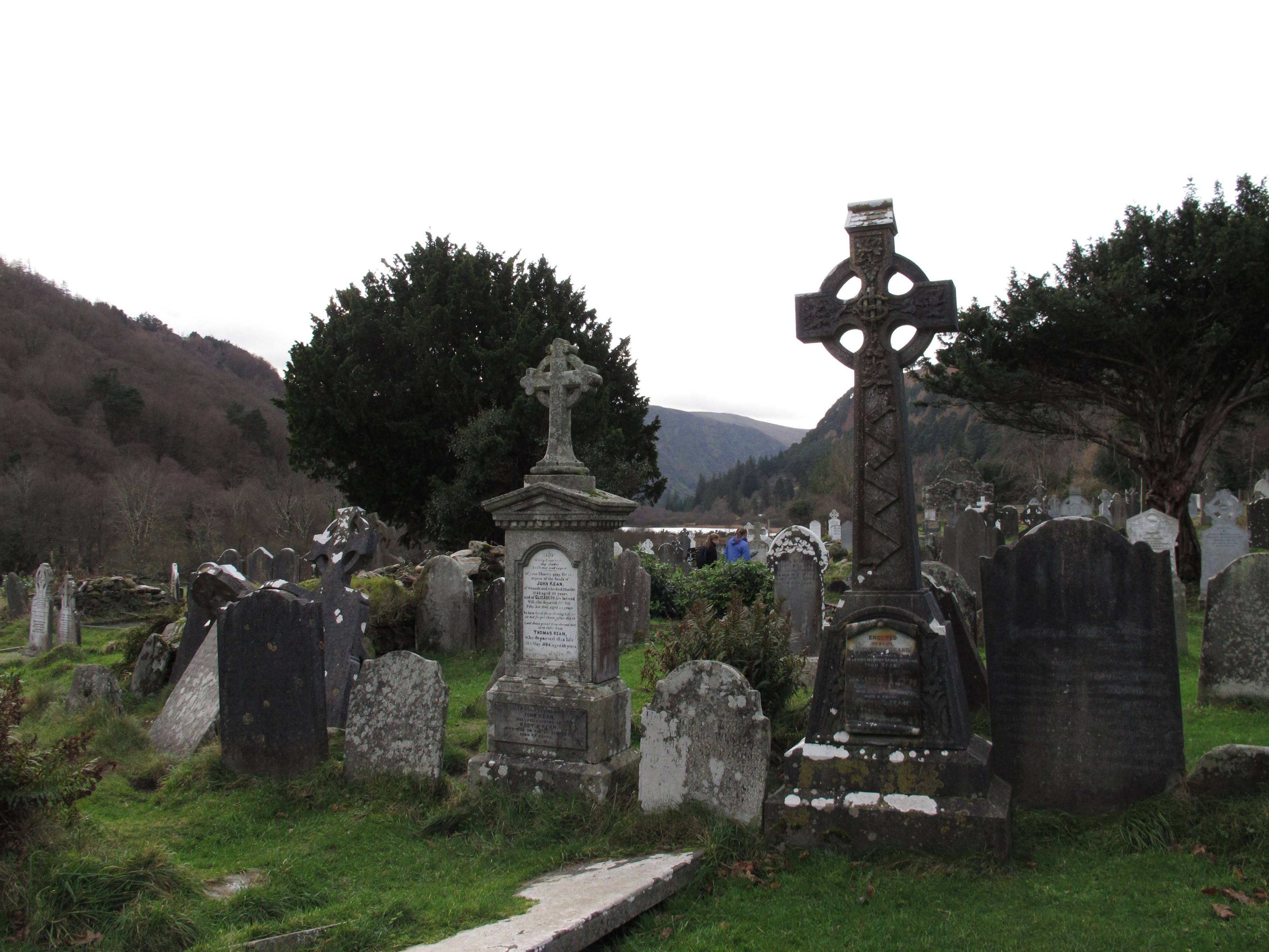 Founded by St. Kevin, the sixth-century monastic settlement in Glendalough, County Wicklow, was one of Ireland's greatest centers of learning for 500 years. Celtic crosses and centuries-old gravestones still remain.