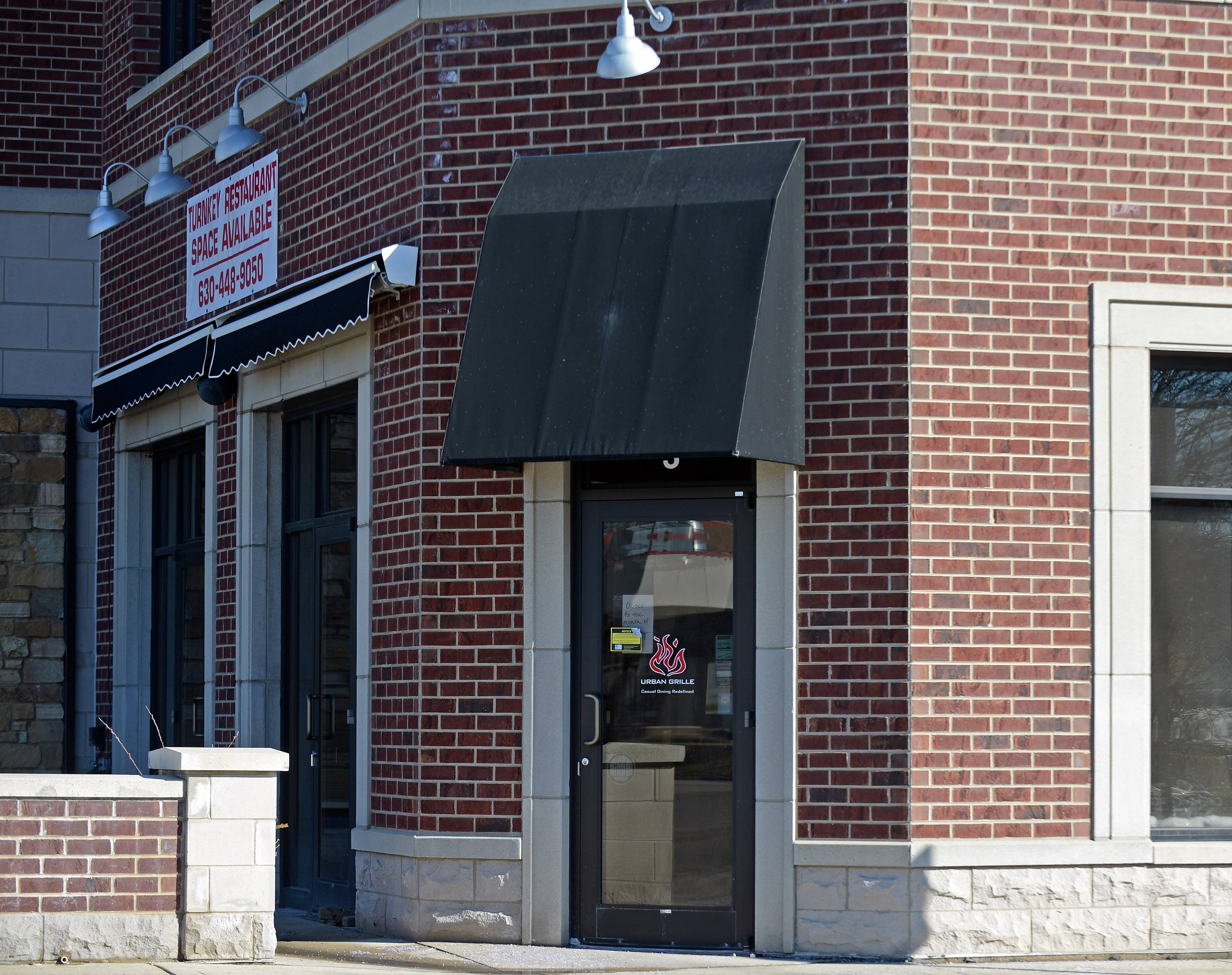 Urban Grille in Geneva is likely closed for good. No word yet on a future occupant for the downtown site.