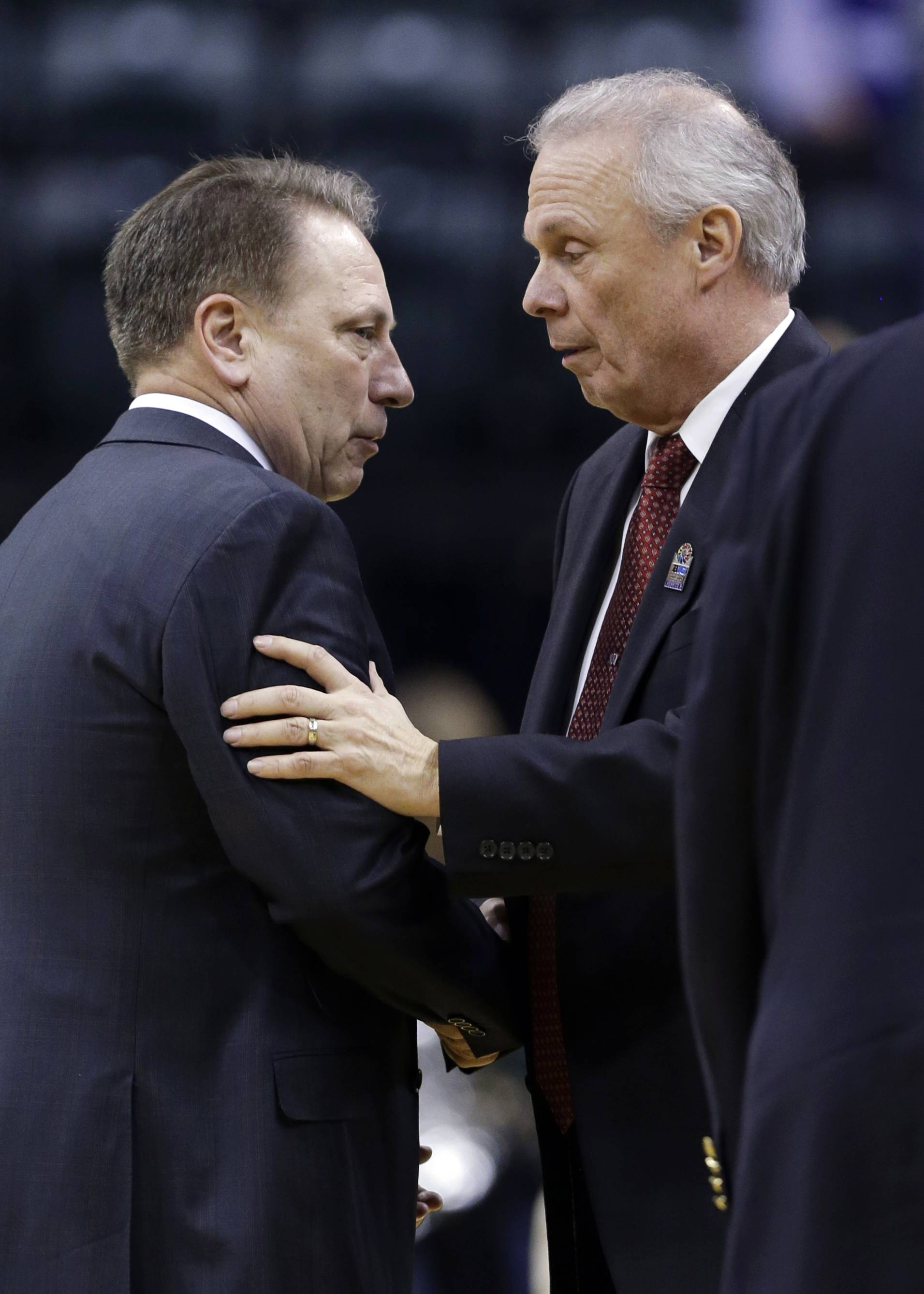 Coaches Tom Izzo, left, of Michigan State and Bo Ryan of Wisconsin are going to help Mike Imrem win a billion dollars, as the story goes.