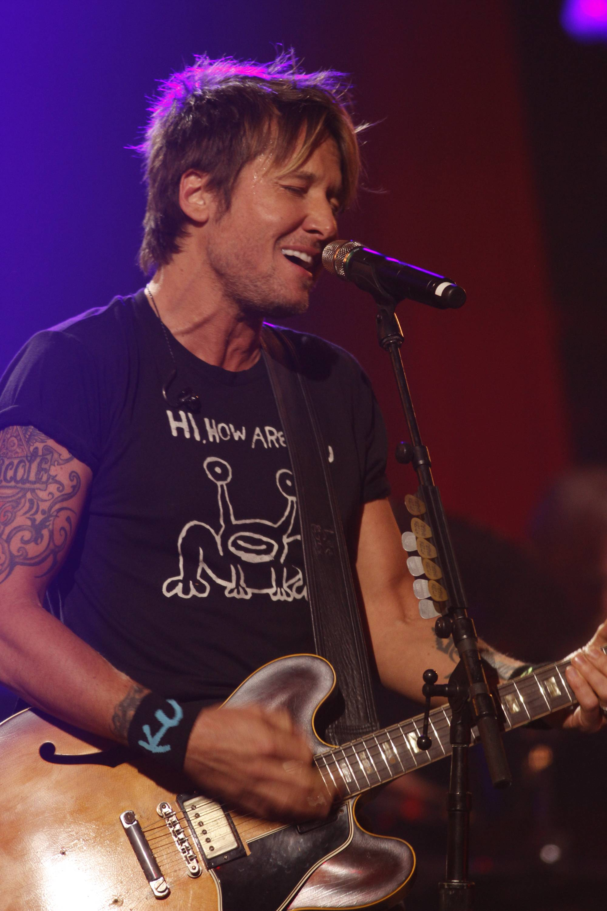 Keith Urban performs at the iTunes Festival during the SXSW Music Festival Saturday in Austin, Texas.