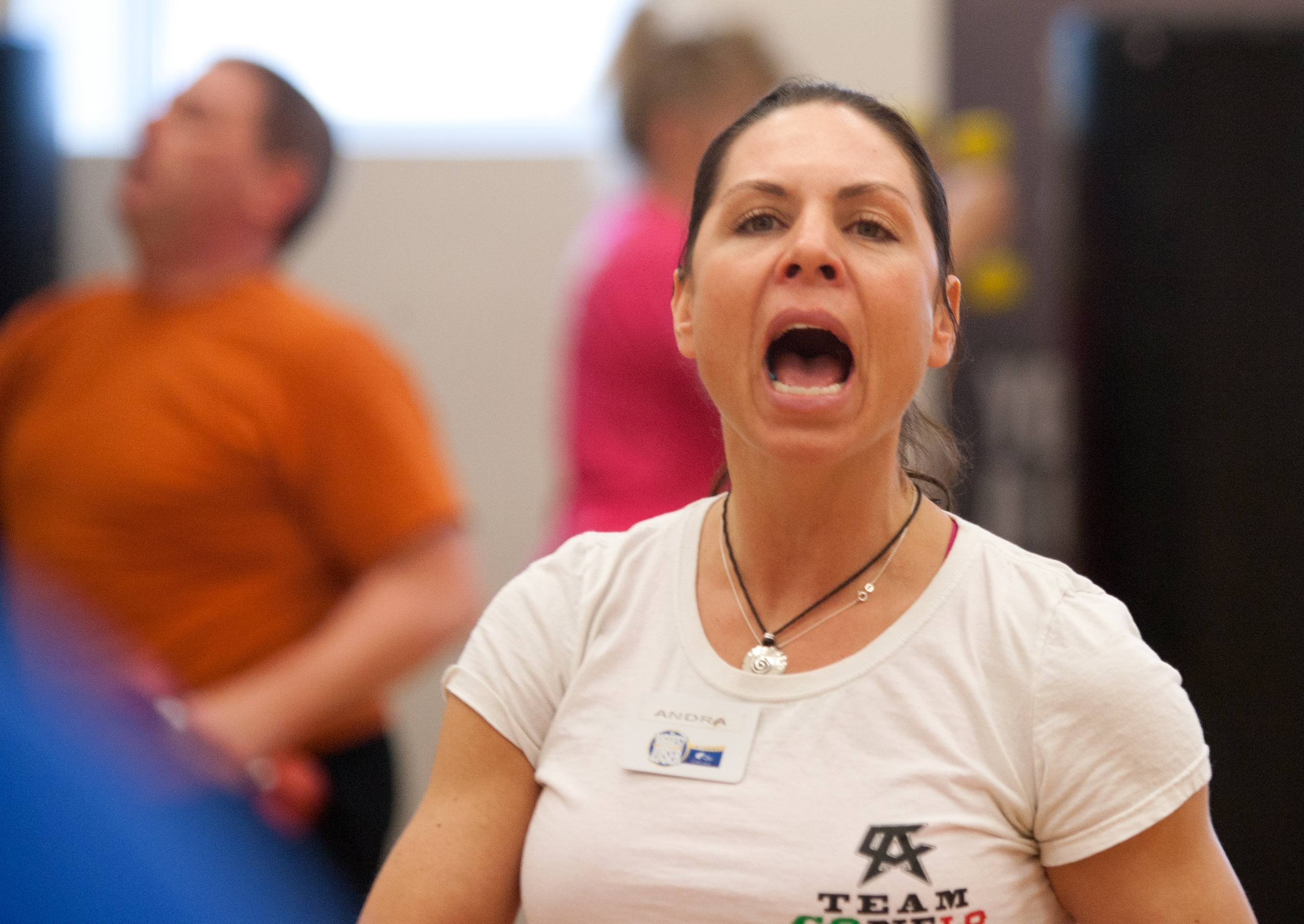 Andra Shrader leads boot camp at the Biggest Loser Resort at Eaglewood in Itasca.