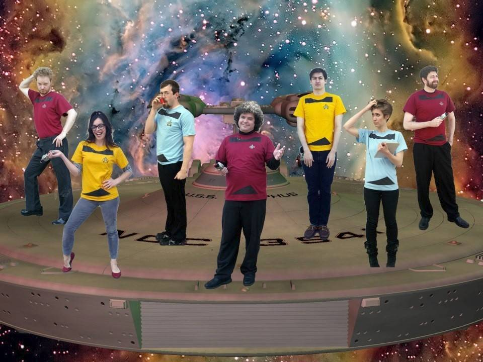 The Improvised Star Trek comedy troupe will perform at the Chicago Nerd Comedy Festival. Members include Nick Wagner, Irene Marquette, Sean Kelley, Matt Young, Griffen Eckstein, Mary Cait Walthall and Chris Rathjen.
