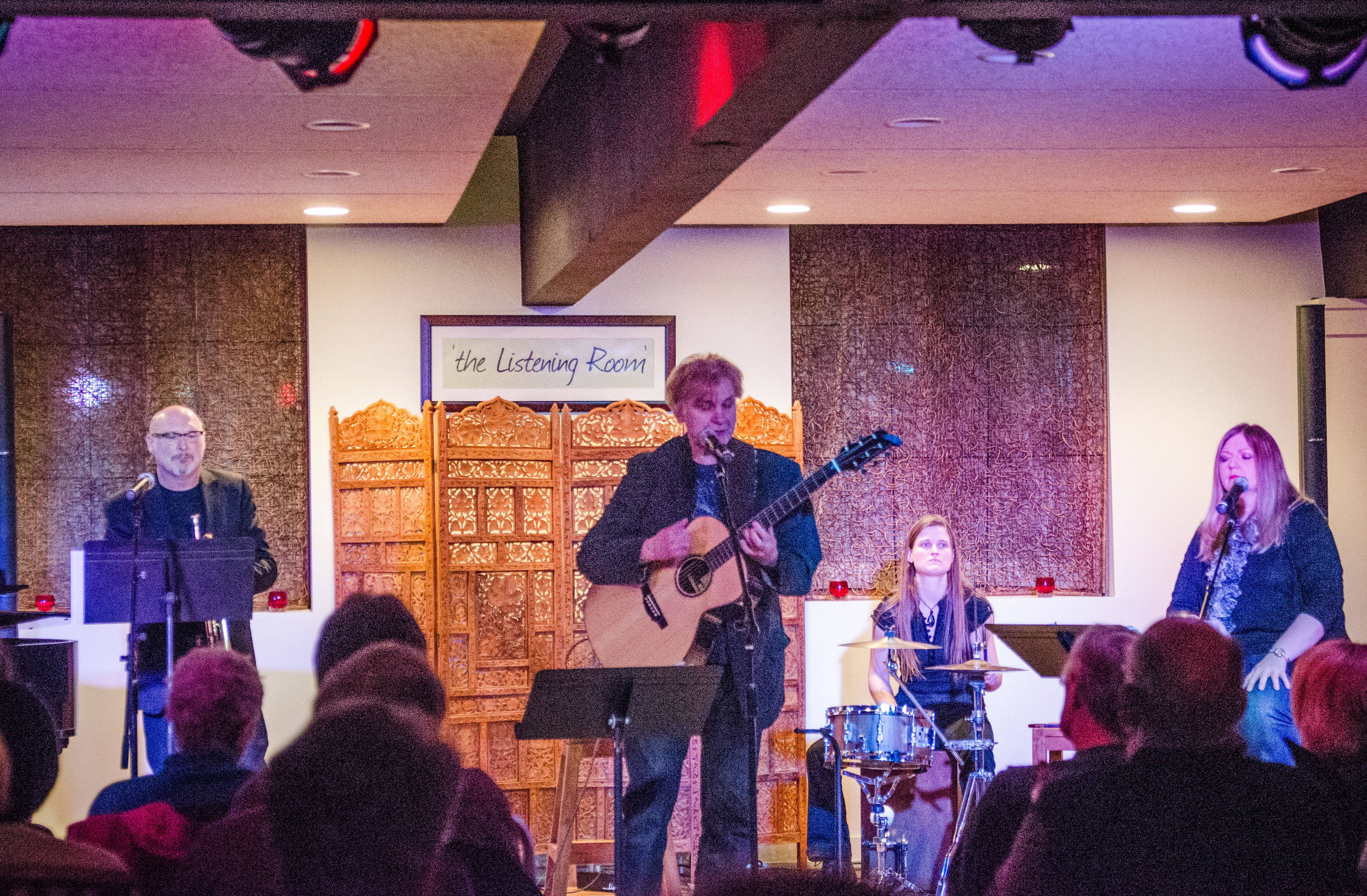 Musician Peter Calo was joined in the Listening Room at Lakeside Legacy Arts Park in Crystal Lake by fellow musicians Cassandra Vohs-Demann, Roger Reupert, and Meg Thomas on March 7.