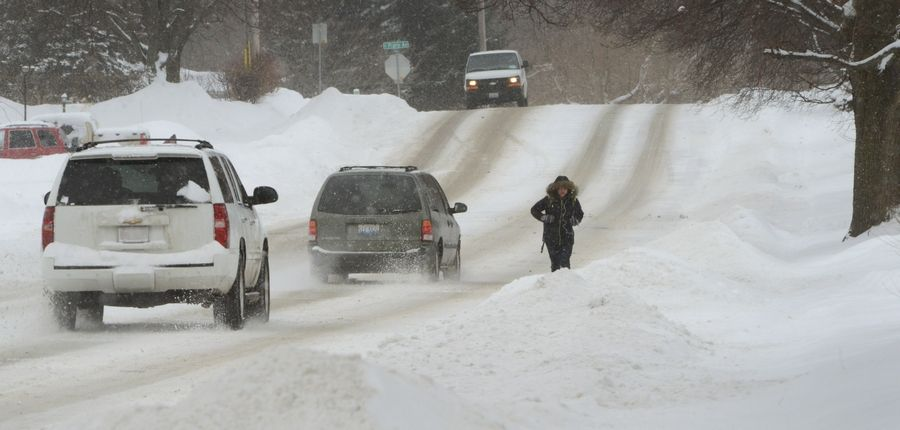 Waiting To Shovel Snow Until It Stops >> Snow Blocked Sidewalks Upset Suburbanites