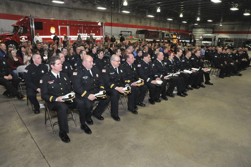 Members of the Barrington Countryside Fire Protection District at the March 6 pinning ceremony held at Station #1 in Lake Barrington.