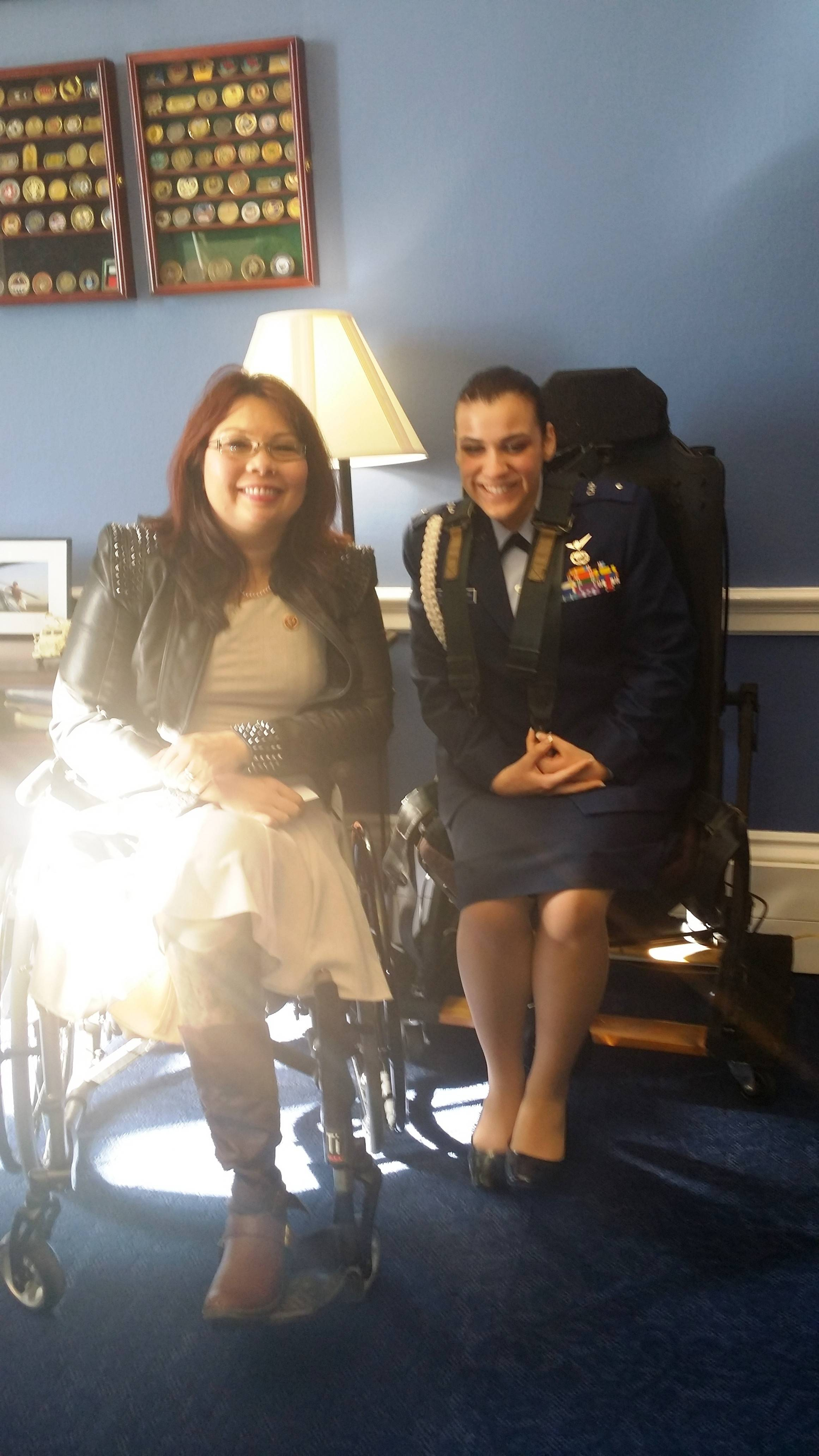 Streamwood High School student Alyssette Rosado meets with Congresswoman Tammy Duckworth in Washington, D.C.