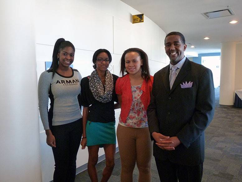 Attendees from Palatine High School at Harper College's Black Teen Symposium on Feb. 27.