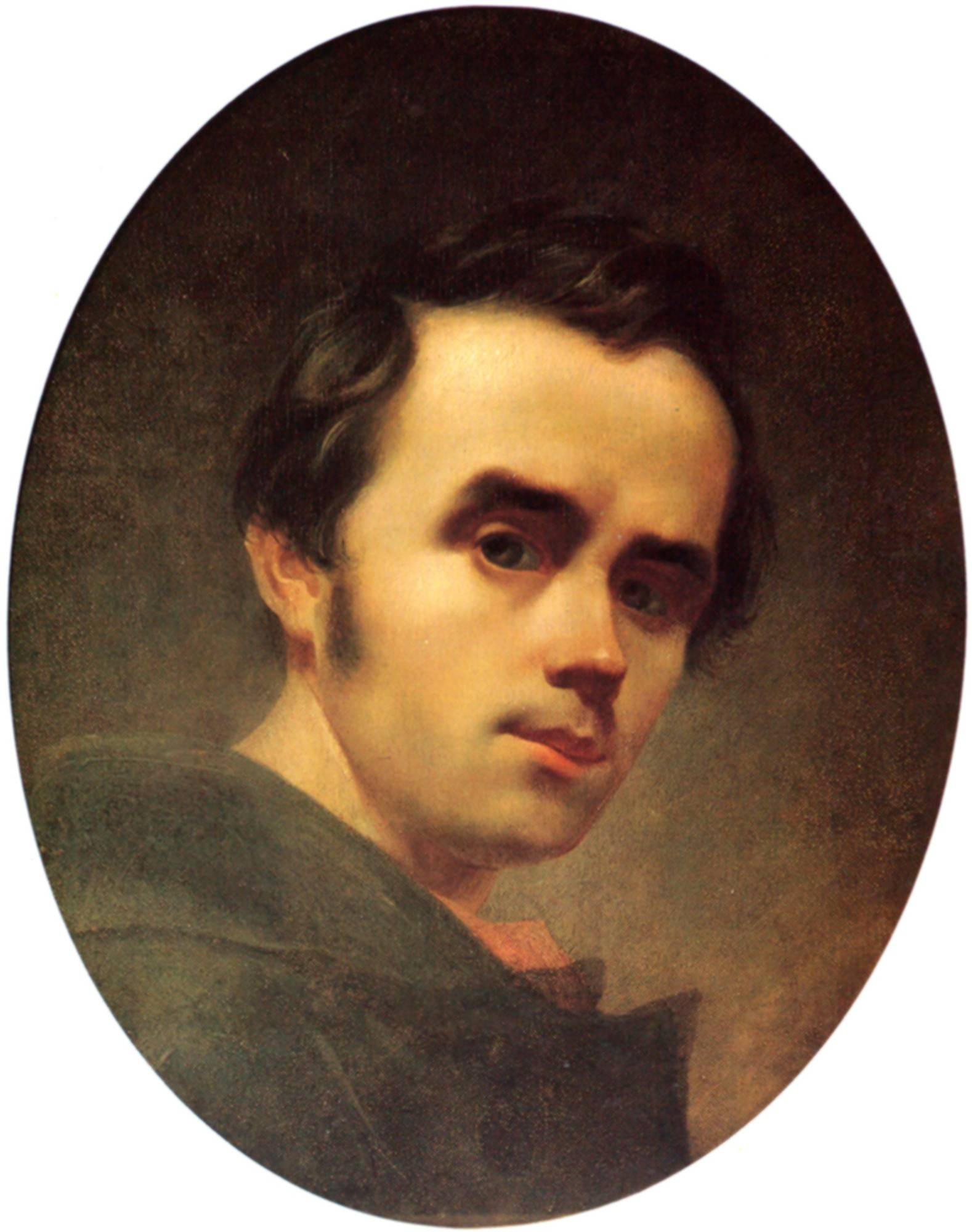 This is a self-portrait of the Ukrainian poet Taras Shevchenko.