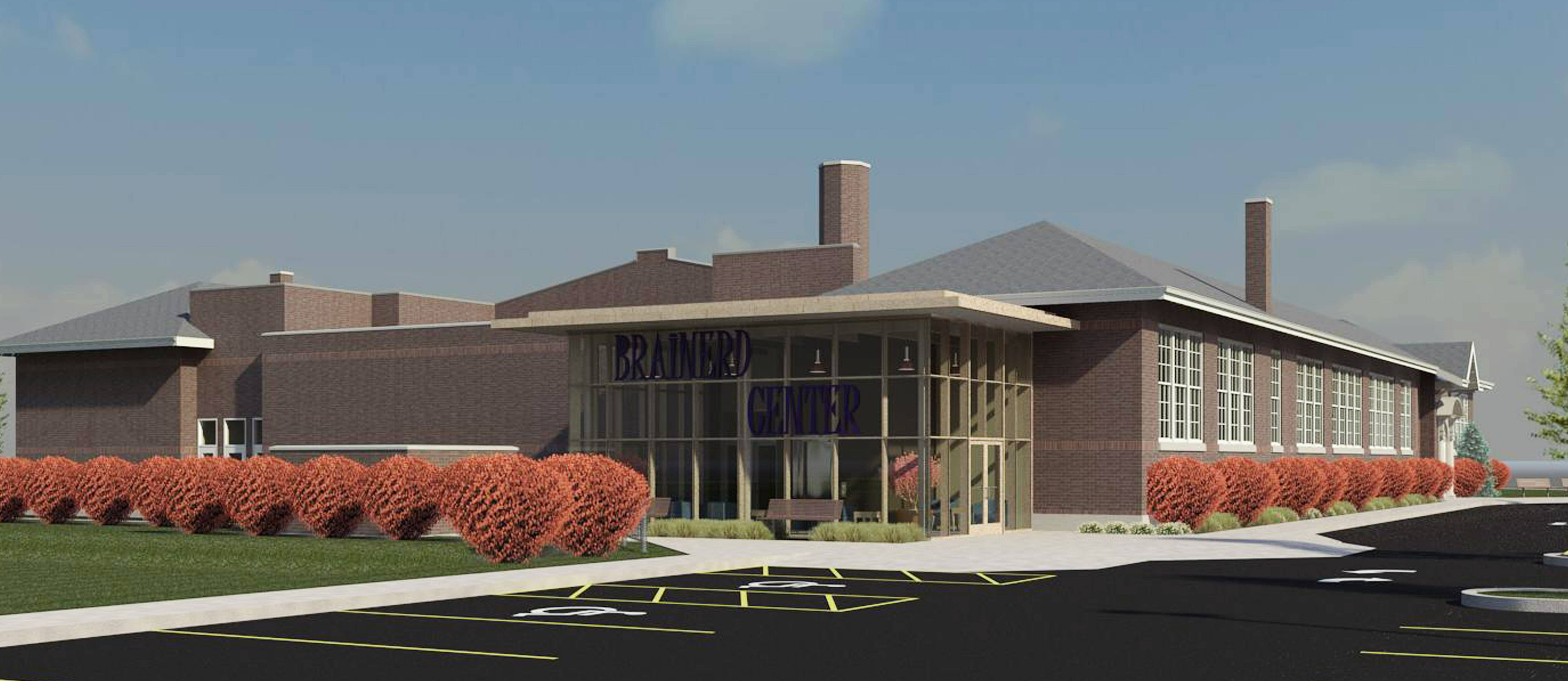 Renderings of the Brainerd Community Center in Libertyville.