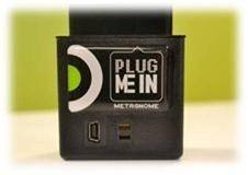 The Metronome is used for the new MetroMile platform. Customers can plug it into the vehicle's onboard diagnostics port and download the free MetroMile mobile app to optimize their trips to save time and gas, and to diagnose check engine lights.