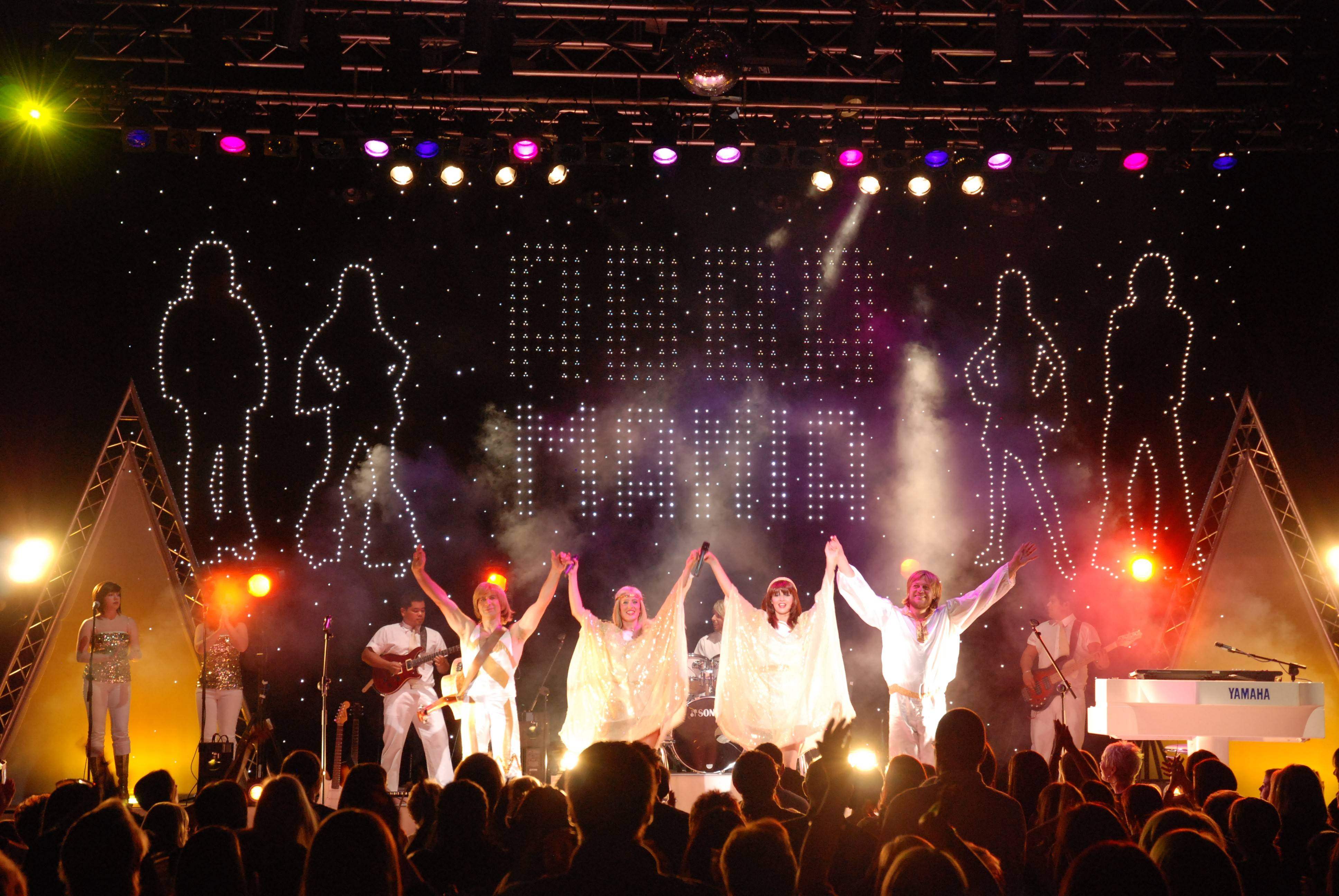 ABBA Mania presents a tribute to the legendary pop group ABBA at North Central College's Pfeiffer Hall on Friday, March 21.