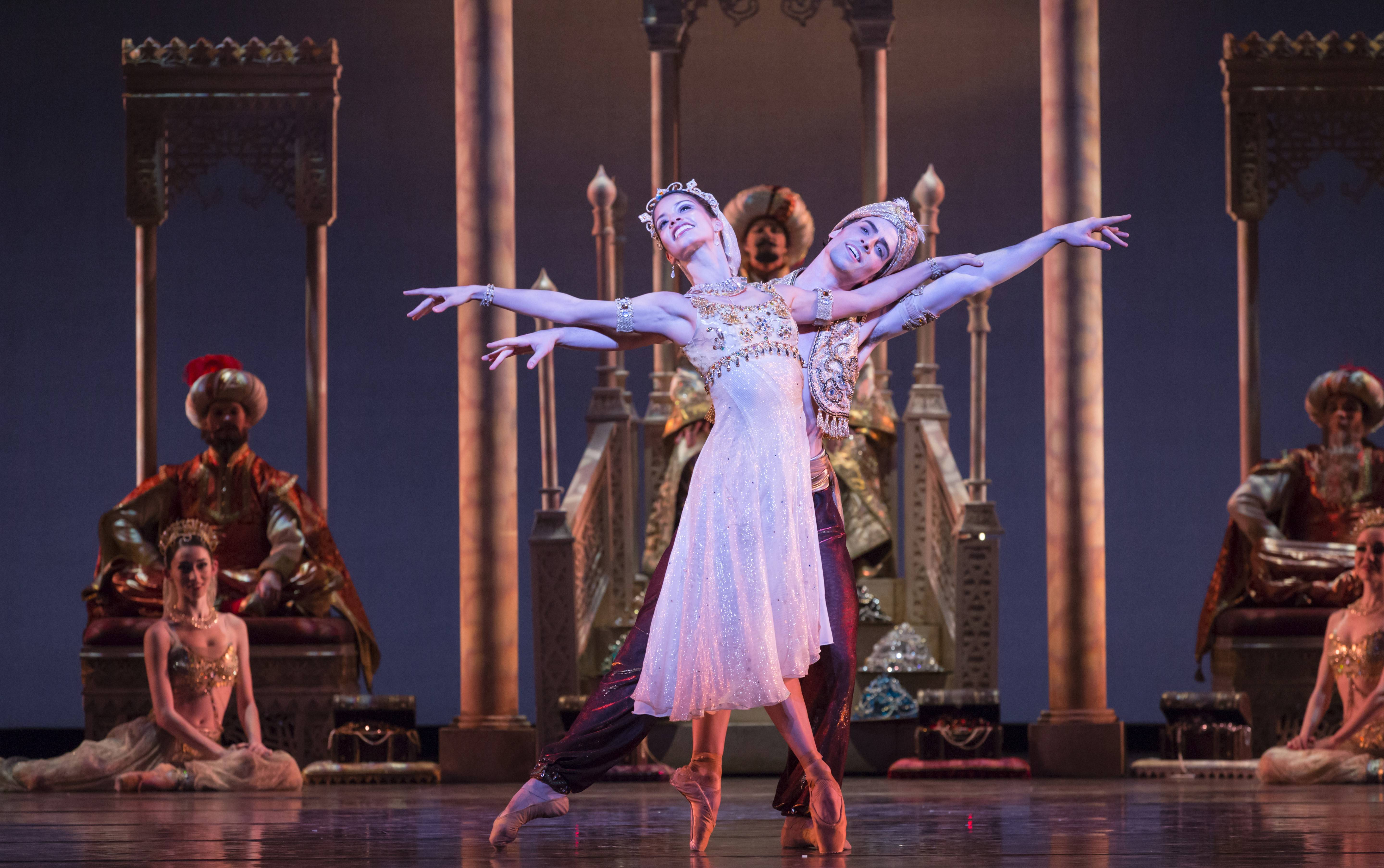"The Ravinia Festival and the Auditorium Theatre of Roosevelt University co-present the Chicago premiere of Houston Ballet's ""Aladdin"" on Saturday and Sunday, March 22 and 23."