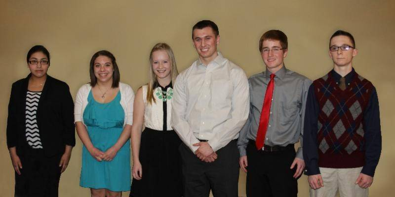 Consumers Cooperative Association awarded $1,500 scholarships to six Lake County high school seniors, from left, Jacqueline Martinez, Brittany M. Turner, Kierstin B. Johansen, Anthony V. Cloe, Matt G. Kushman and Kevin R. Woolums.