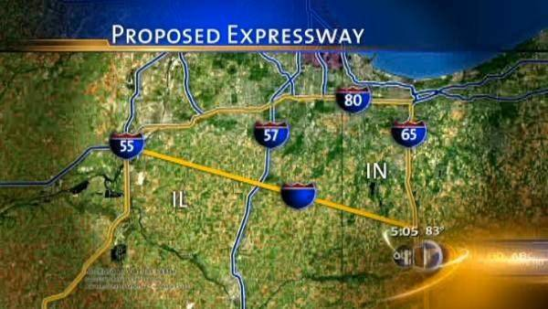 Proposed Illiana Expressway route