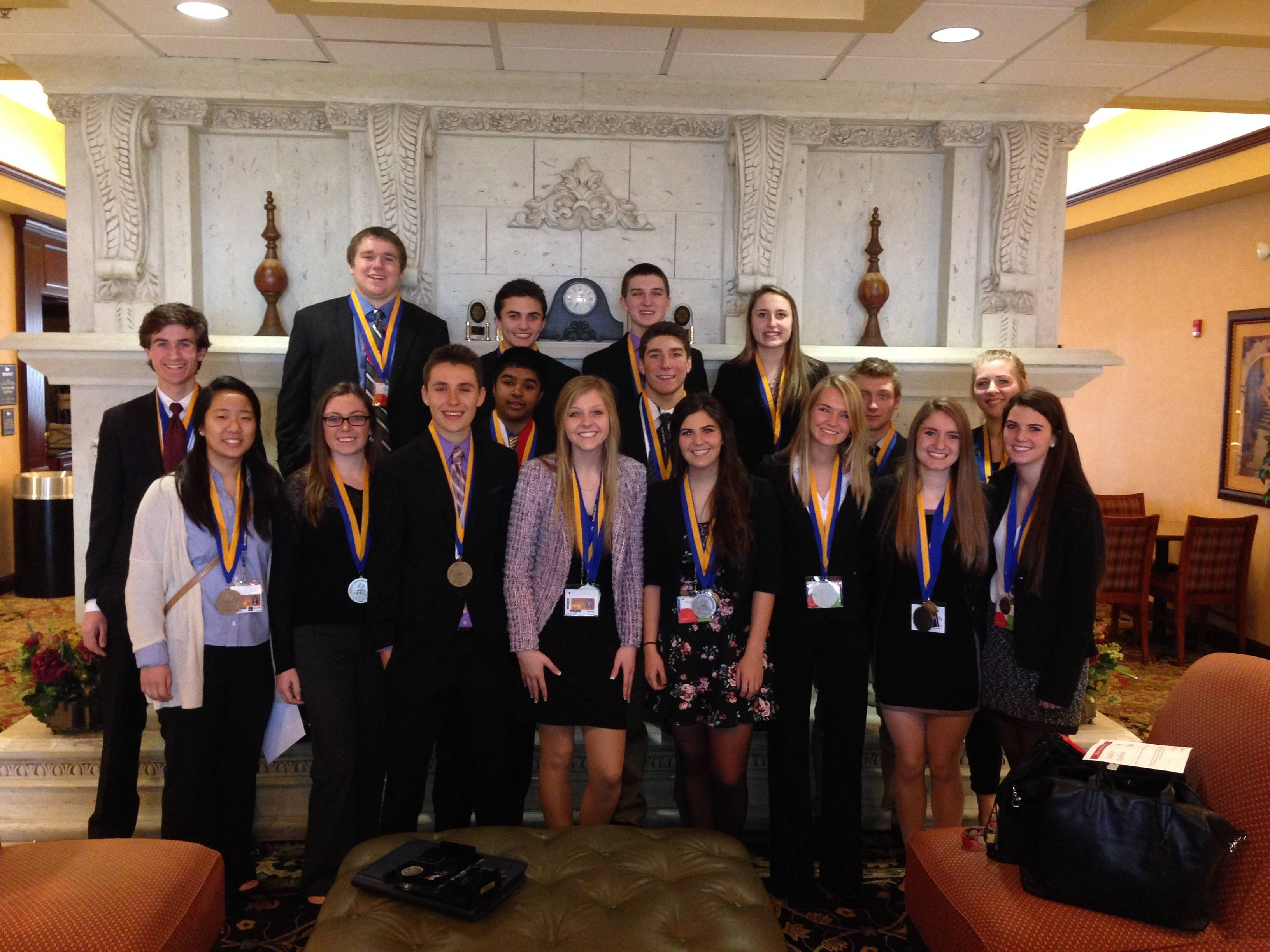 Hersey students earned top 10 in state ratings at DECA competition.