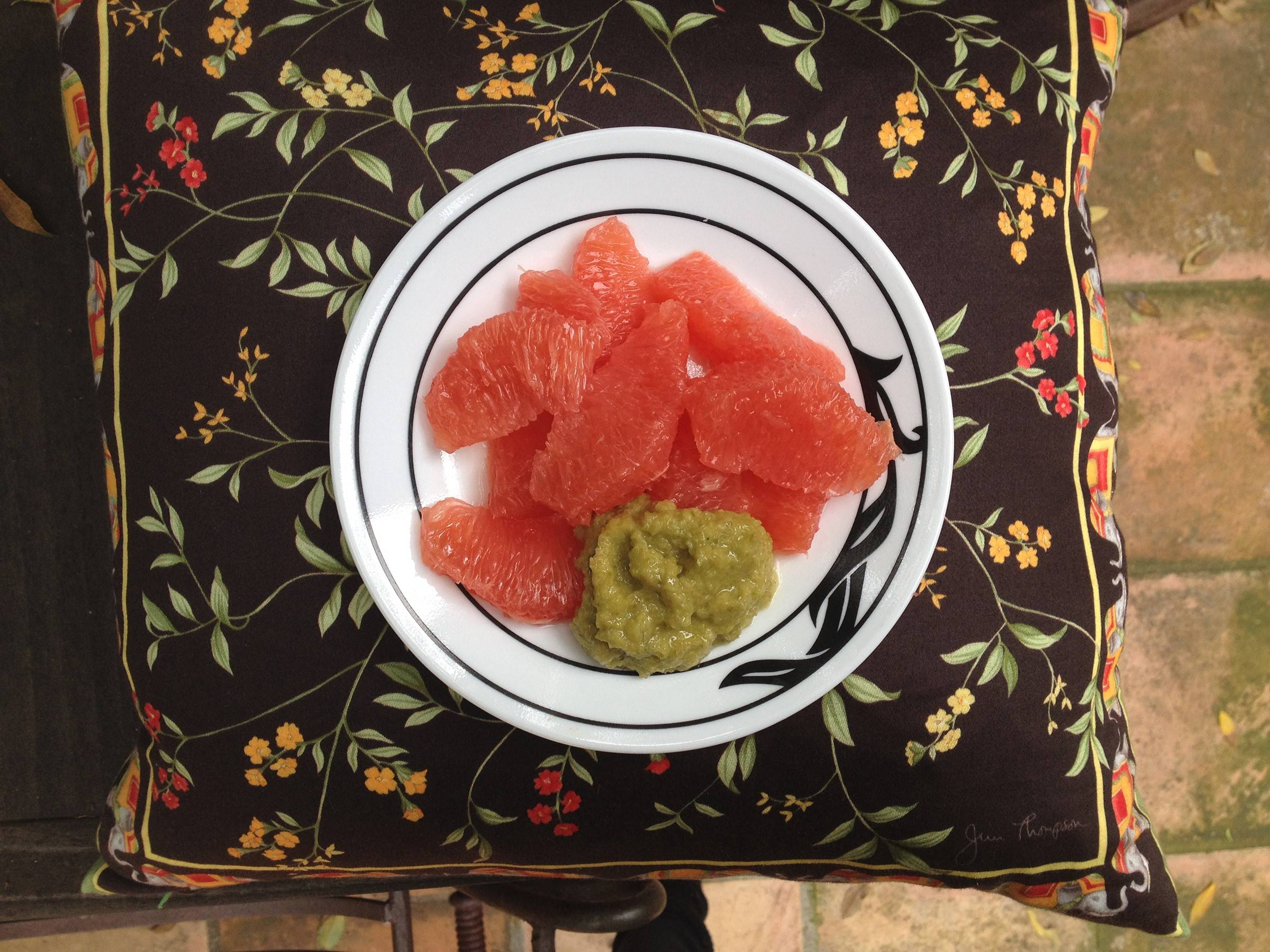 Grapefruit Salad with Green Olive Paste