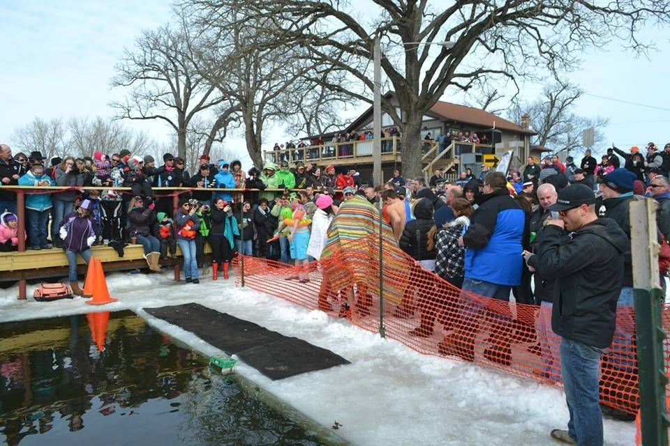 The Broken Oar on the Fox River in Port Barrington recently hosted its second Fox River Shiver event, in which brave volunteers jumped into icy water for charity.
