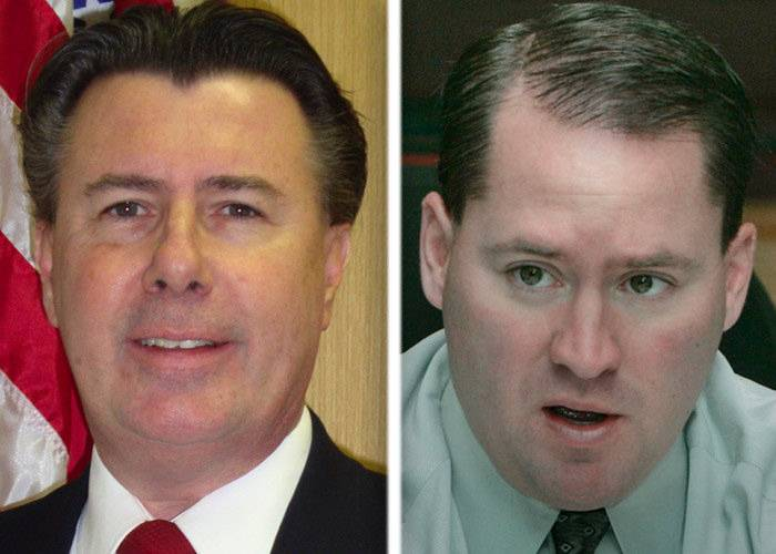 Ed Sullivan Jr., right, won Tuesday's GOP primary race for the 51st Illinois House District over challenger Bob Bednar.