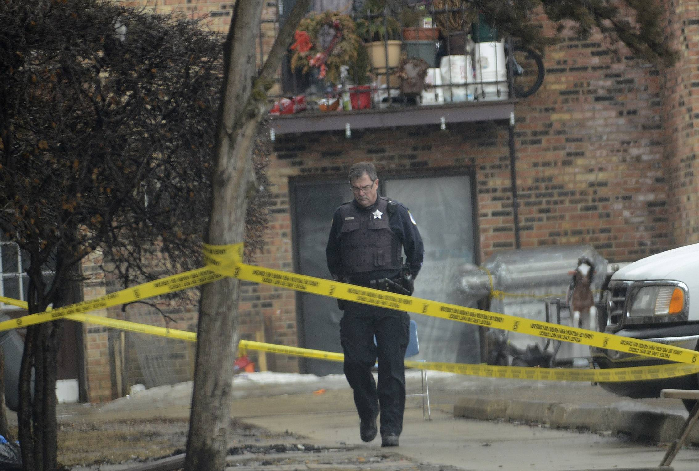 Police are investigating a double homicide at Baldwin Green Apartments in Palatine. Authorities say a 15-year-old boy and his father were found in an apartment early Wednesday morning with gunshot wounds.