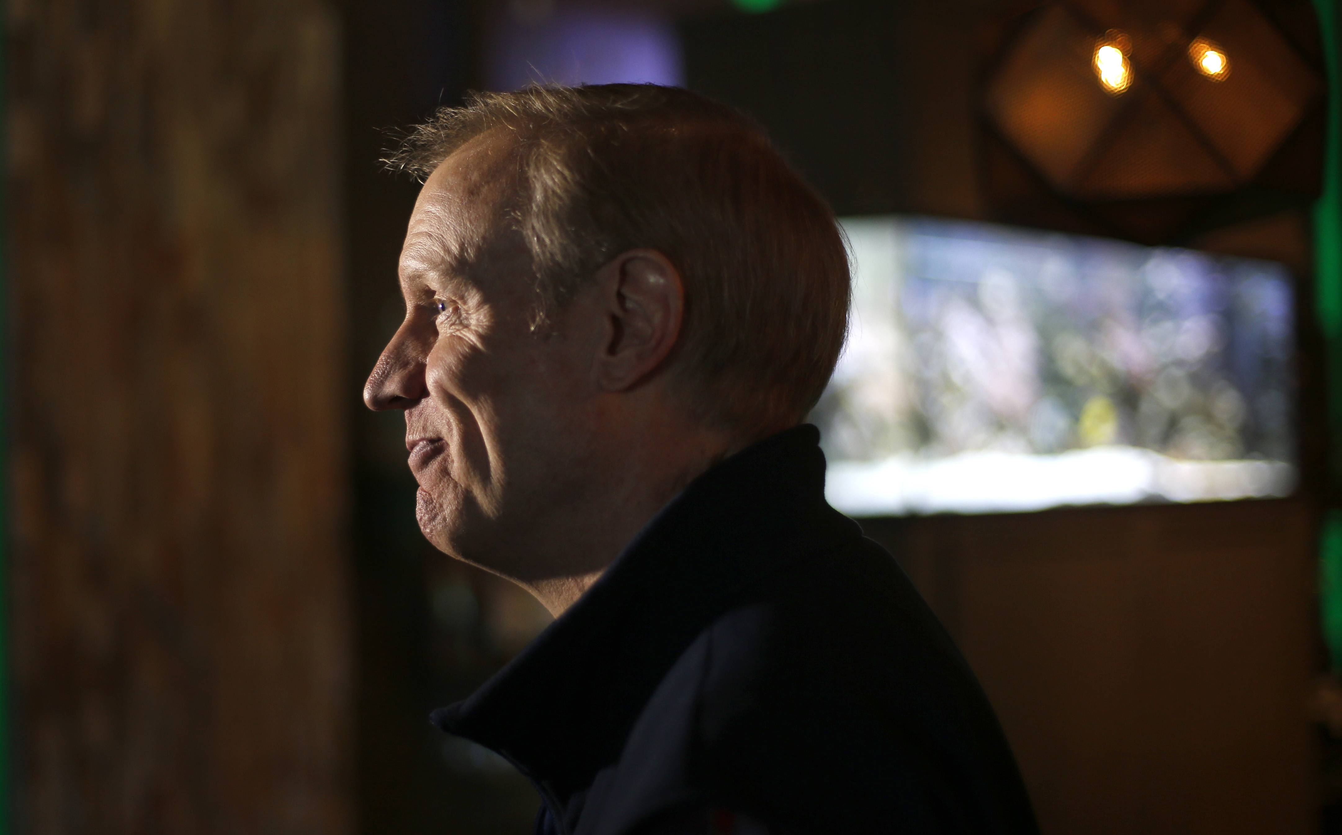 Bruce Rauner on the campaign trail before Tuesday's primary.