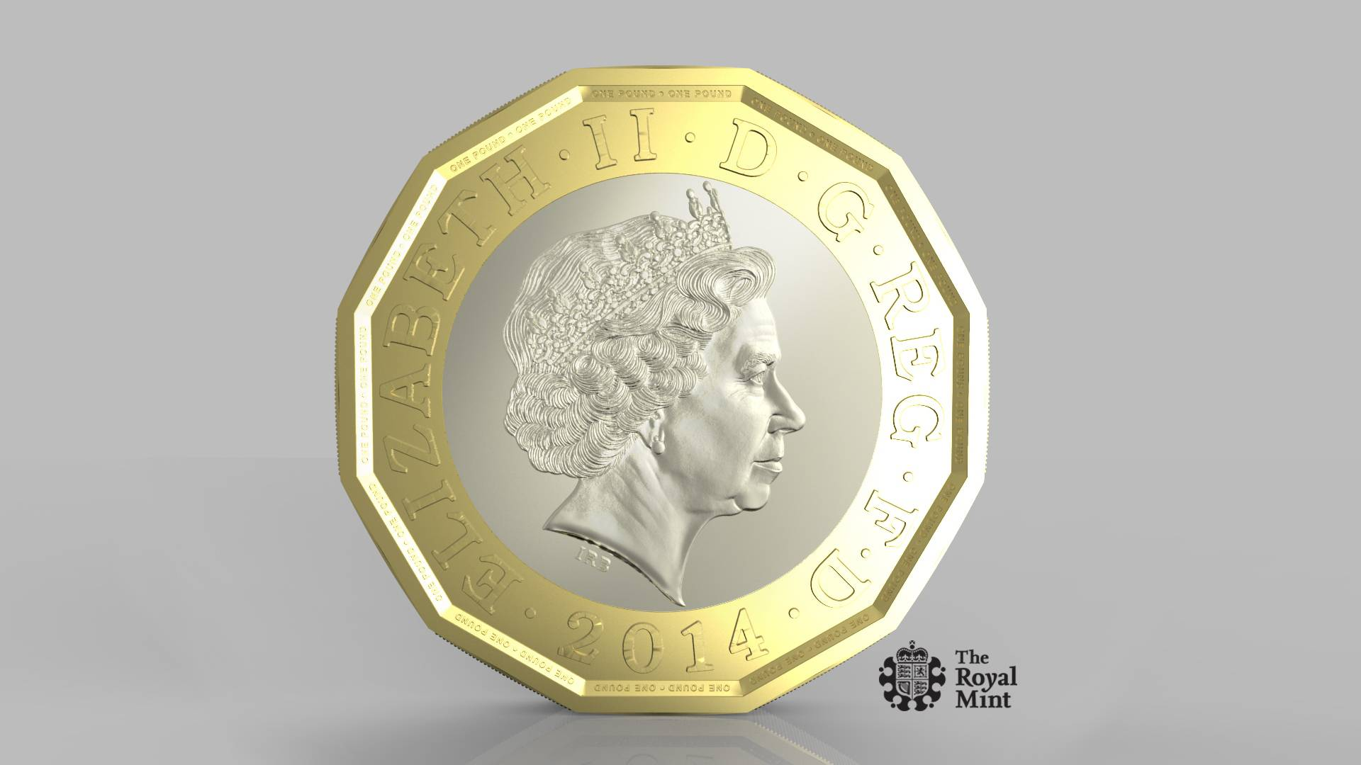 The new one pound coin.