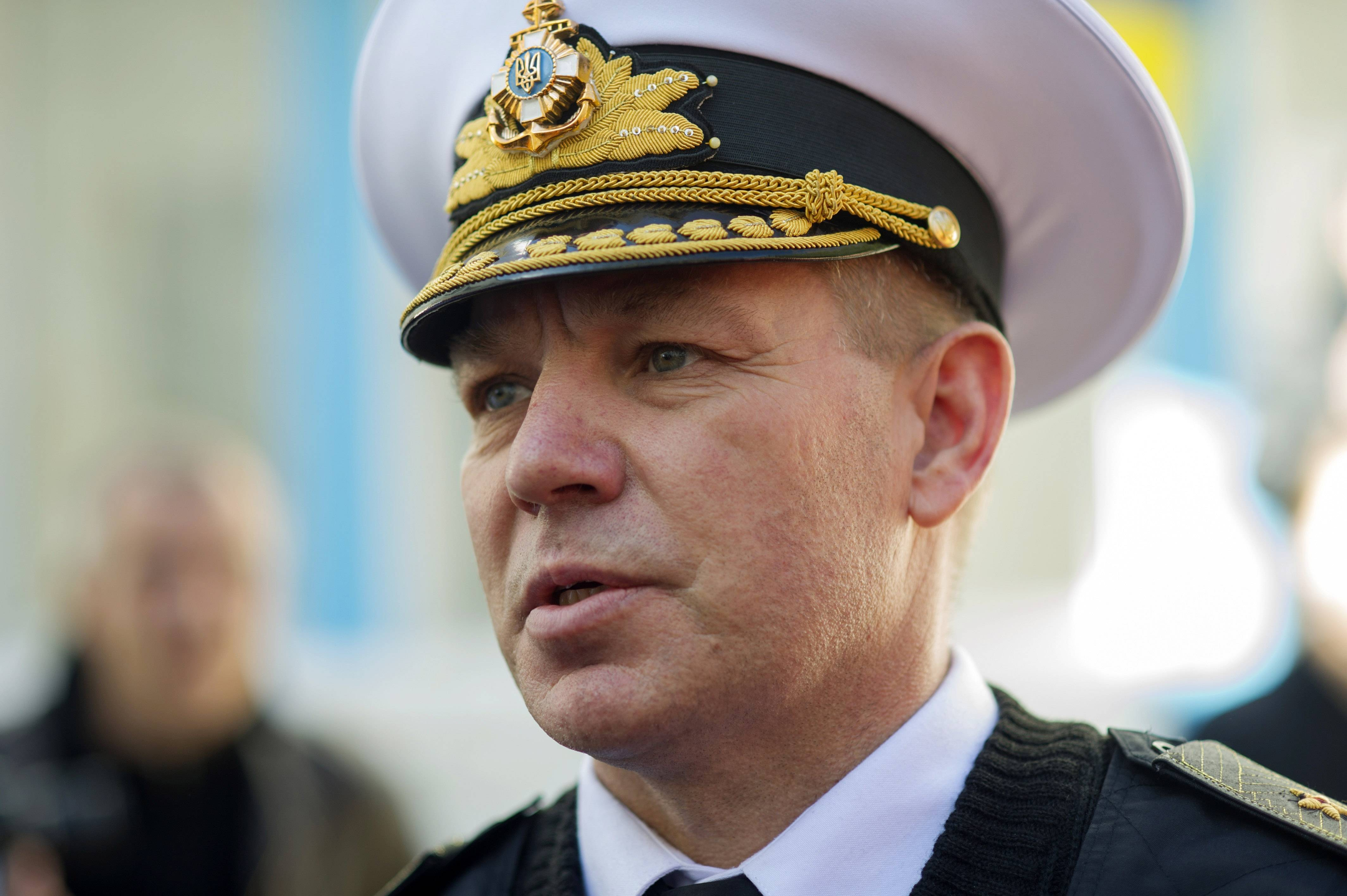 Commander of the Naval forces of Ukraine Rear Admiral Sergei Gaiduk was detained for questioning, the Russian state ITAR-Tass news agency reported, citing the Crimean prosecutors' office.