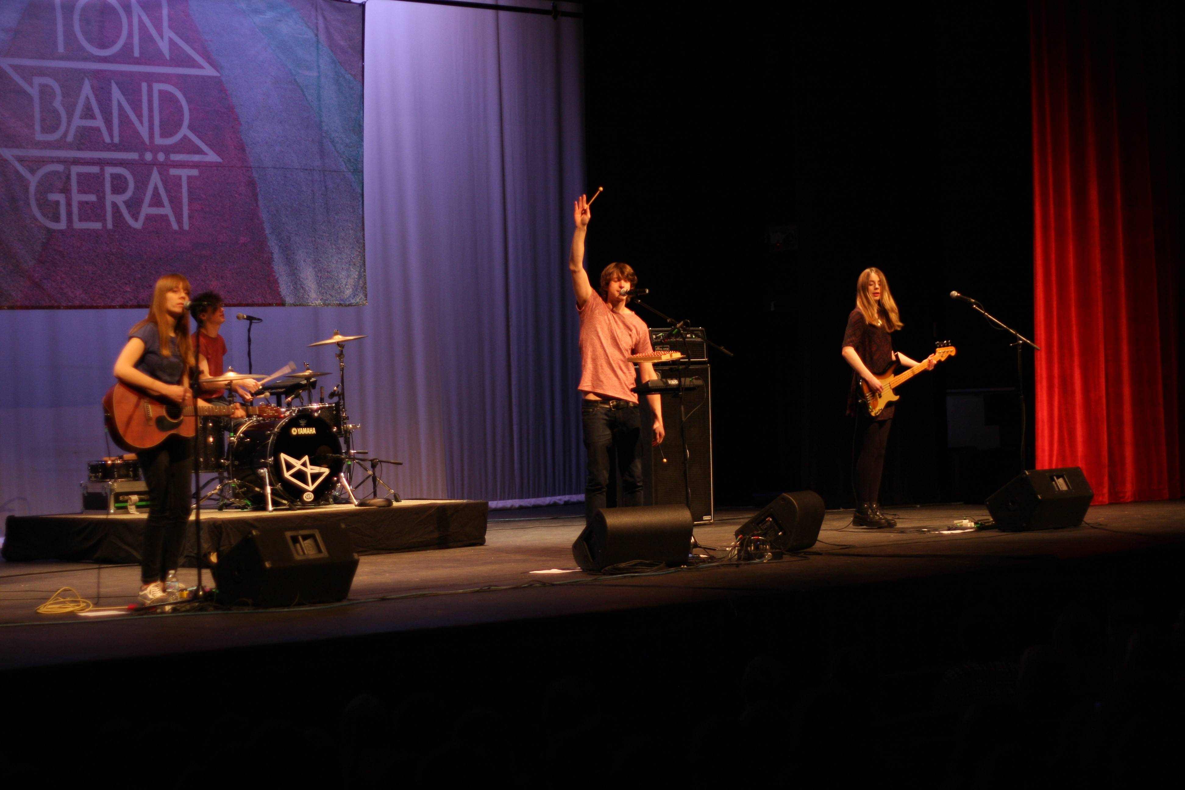 The German band Tonbandgerät recently performed before a sellout crowd at North Central College's Pfeiffer Hall.