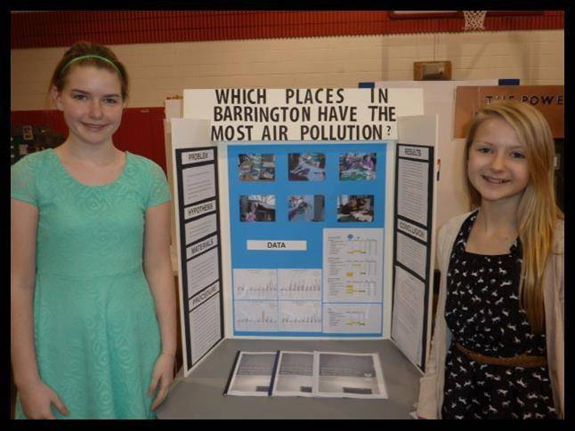 St Anne Parish School students Alexandra Kasch and Jillian Vlasak will head to the state science fair competition in May at Northern Illinois University.