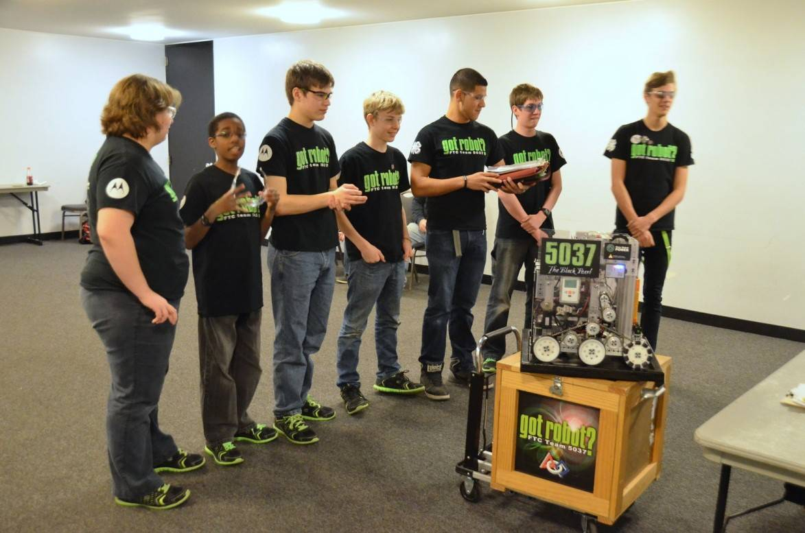 "Members of the ""got robot?"" 4-H club and FTC robotics team will be on hand to demonstrate their award-winning robot at the 2014 4-H Robotics Showcase for DuPage, Kane and Kendall Counties on Saturday, March 22. The free event will be at Abbott Middle School in Elgin."