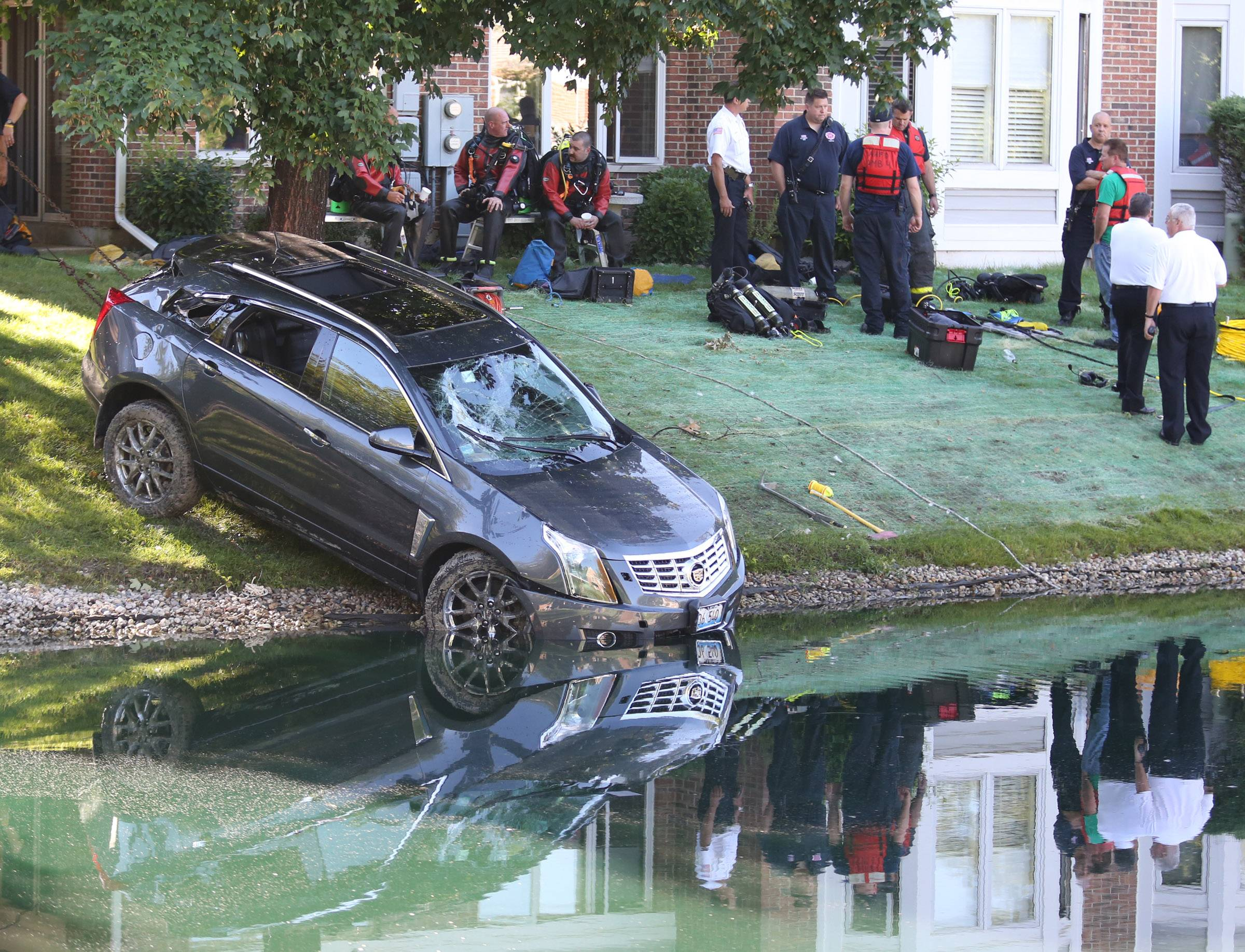 Henry Laseke's car was pulled from the pond near his Arlington Heights home in July 2013.