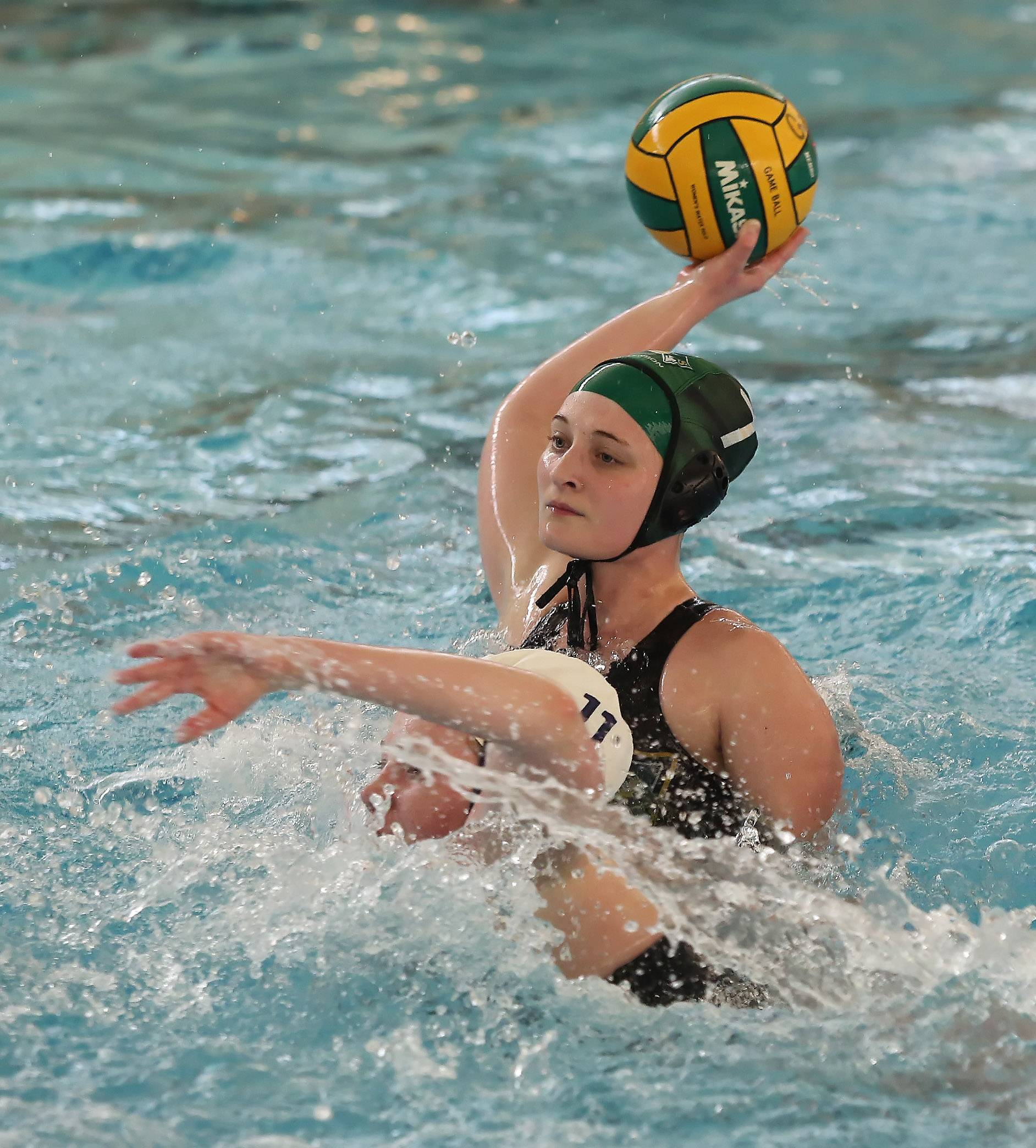 Stevenson's Erin Kempers puts a shot on goal in the first quarter Thursday against visiting Oak Park.