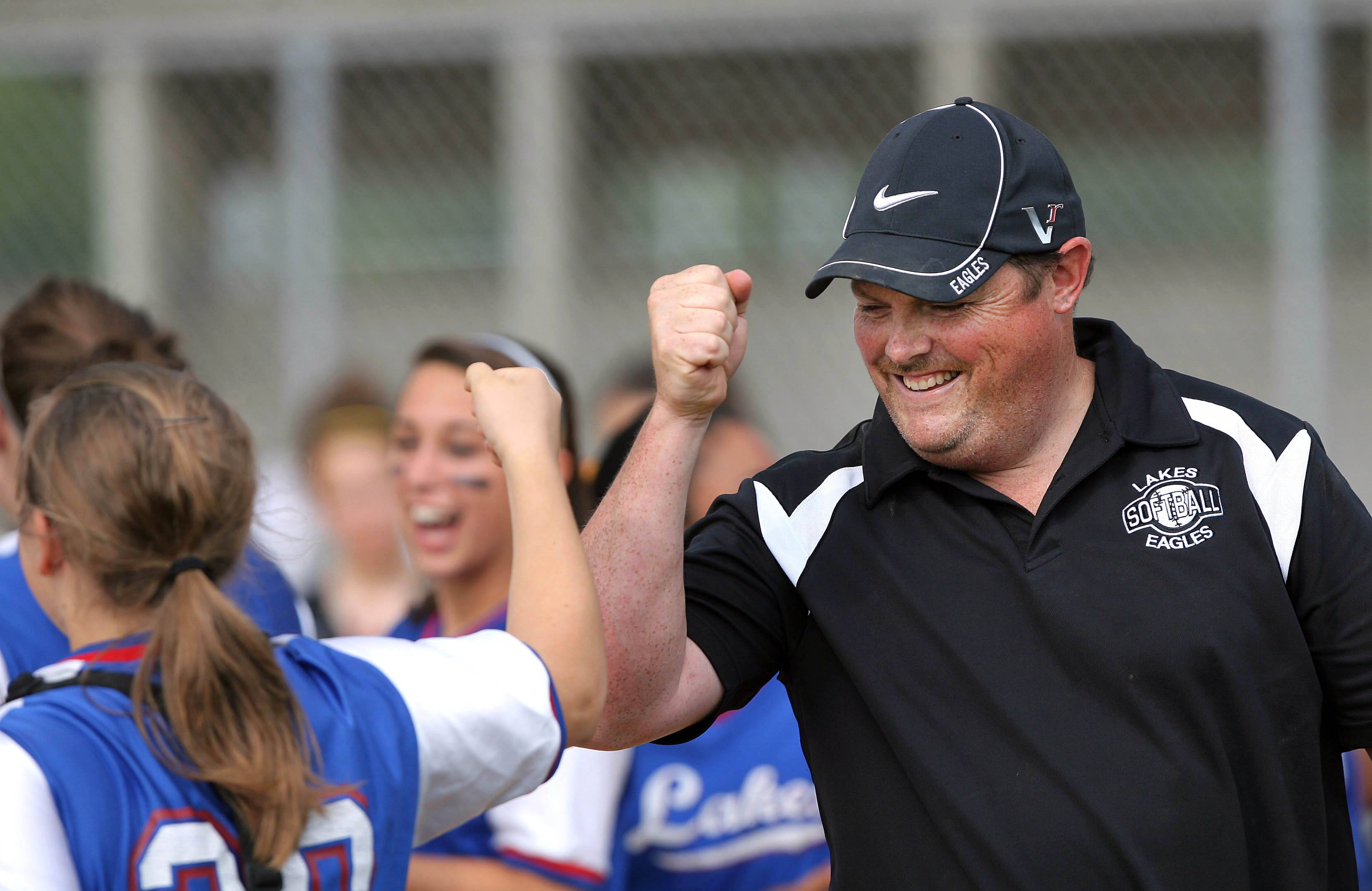 Lakes softball coach Bill Hamill is ready for the softball season after suffering a heart scare last summer.