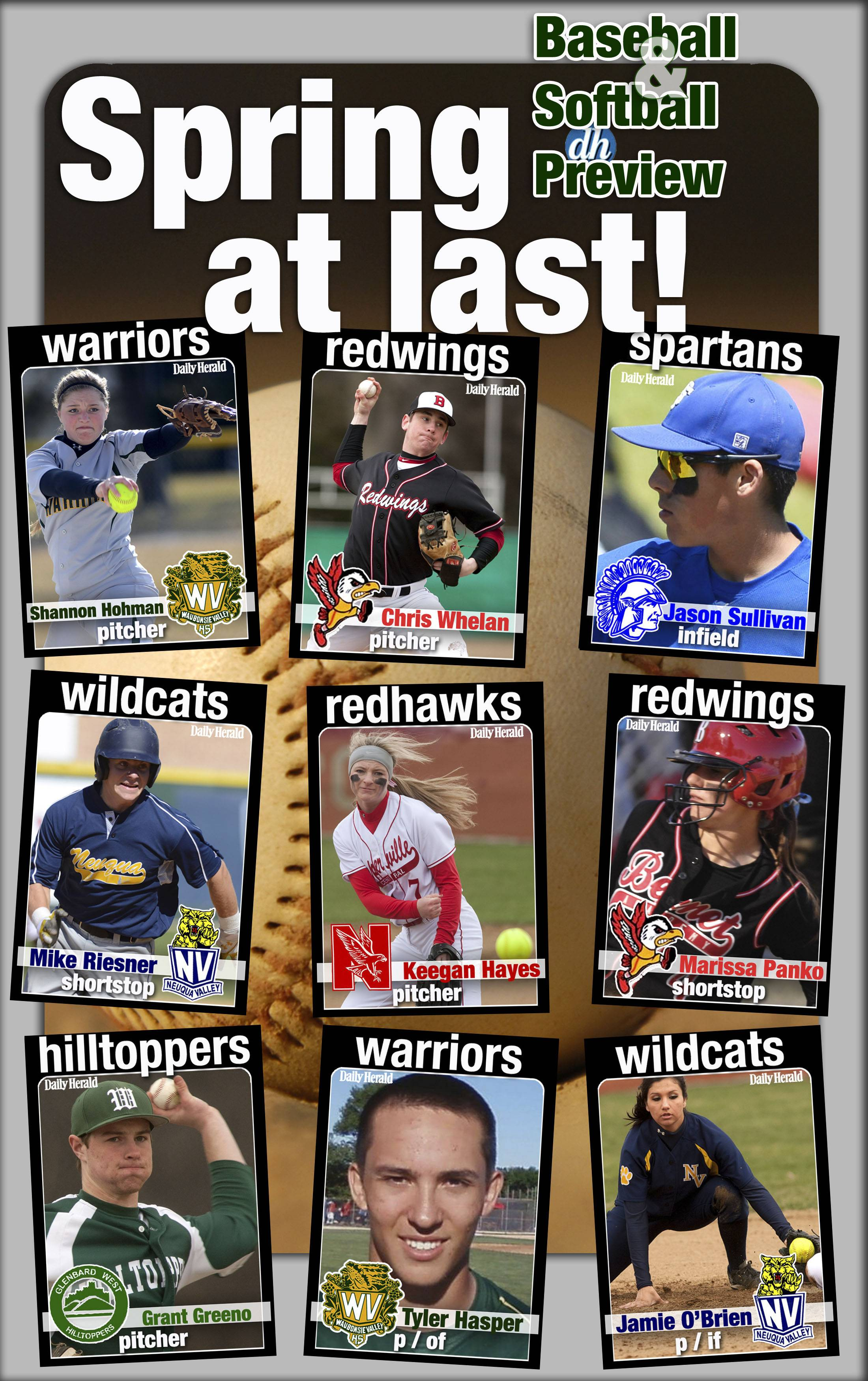Daily Herald prep trading cards are back for 2014 and feature returning baseball and softball players in DuPage County.