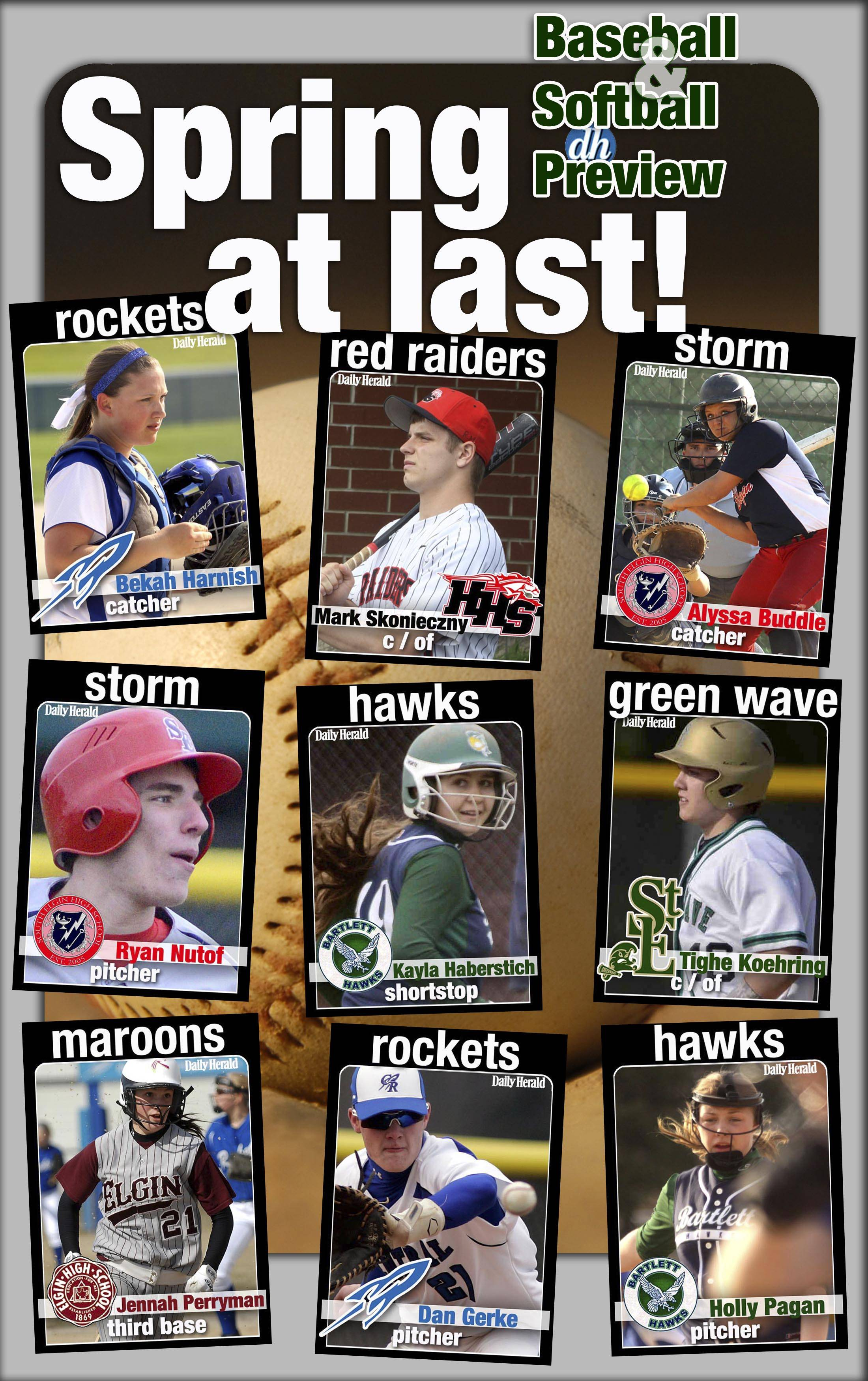 Daily Herald prep trading cards are back for 2014 and feature returning baseball and softball players in the Fox Valley.