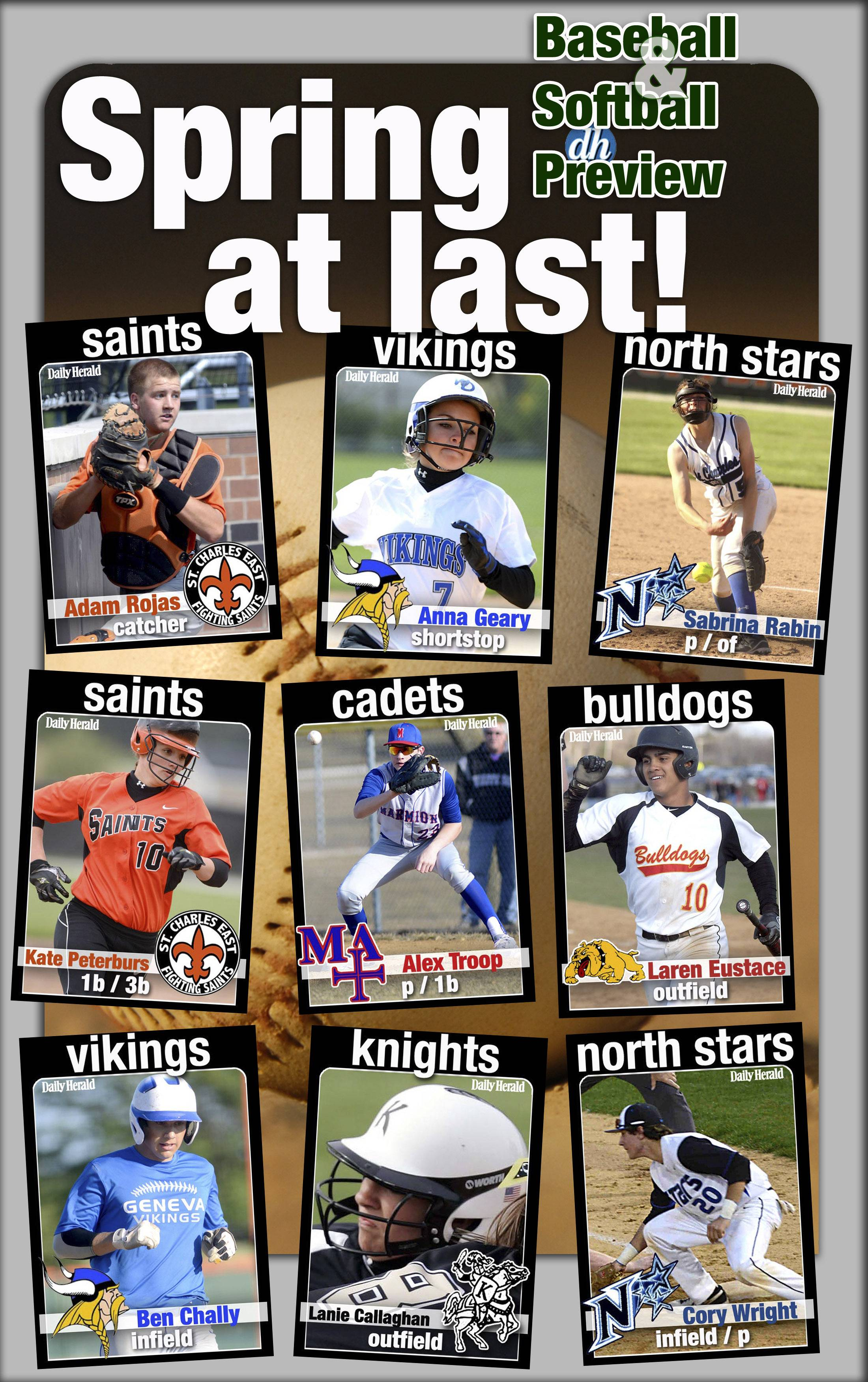 Daily Herald prep trading cards are back for 2014 and feature returning baseball and softball players in the Tri-Cities.