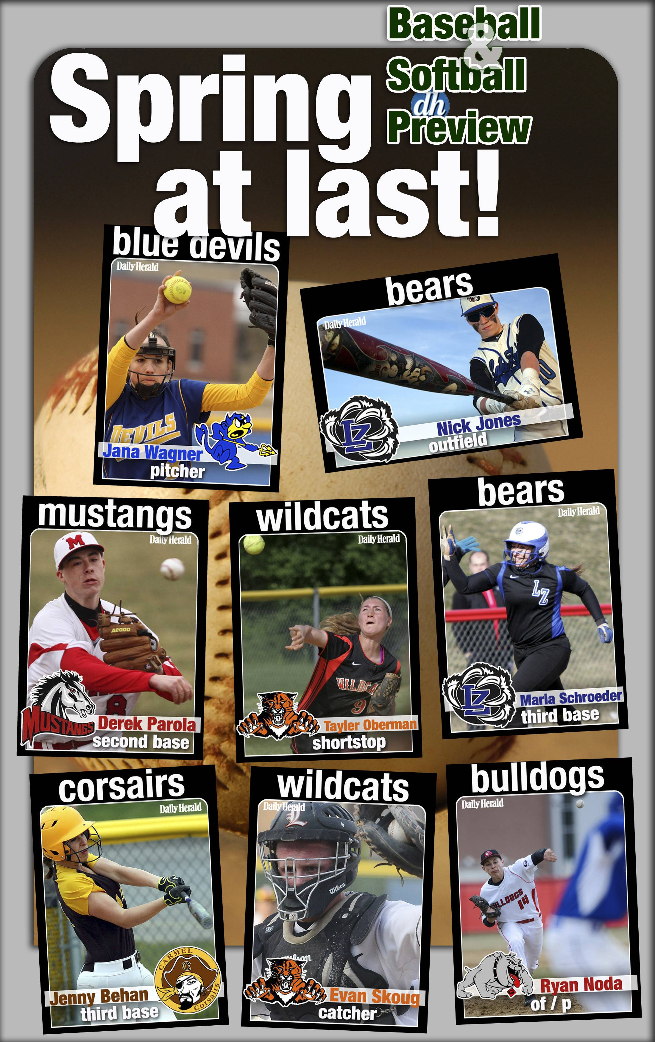 Daily Herald prep trading cards are back for 2014 and feature returning baseball and softball players in Lake County.